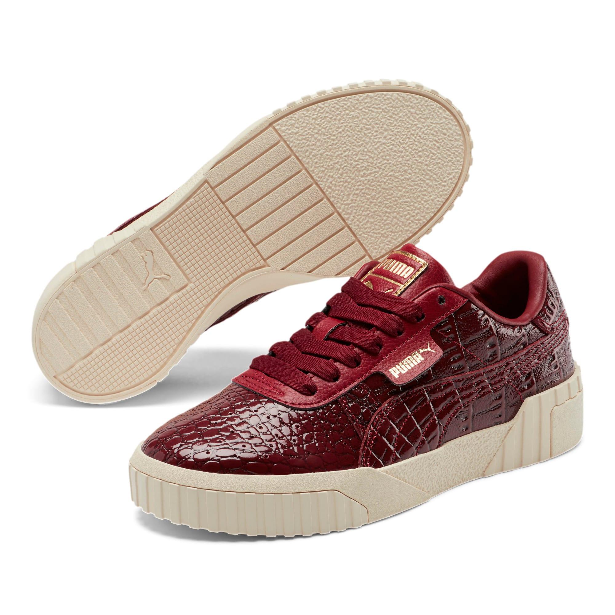 Thumbnail 3 of Cali Croc Women's Sneakers, Pomegranate-Pomegranate, medium