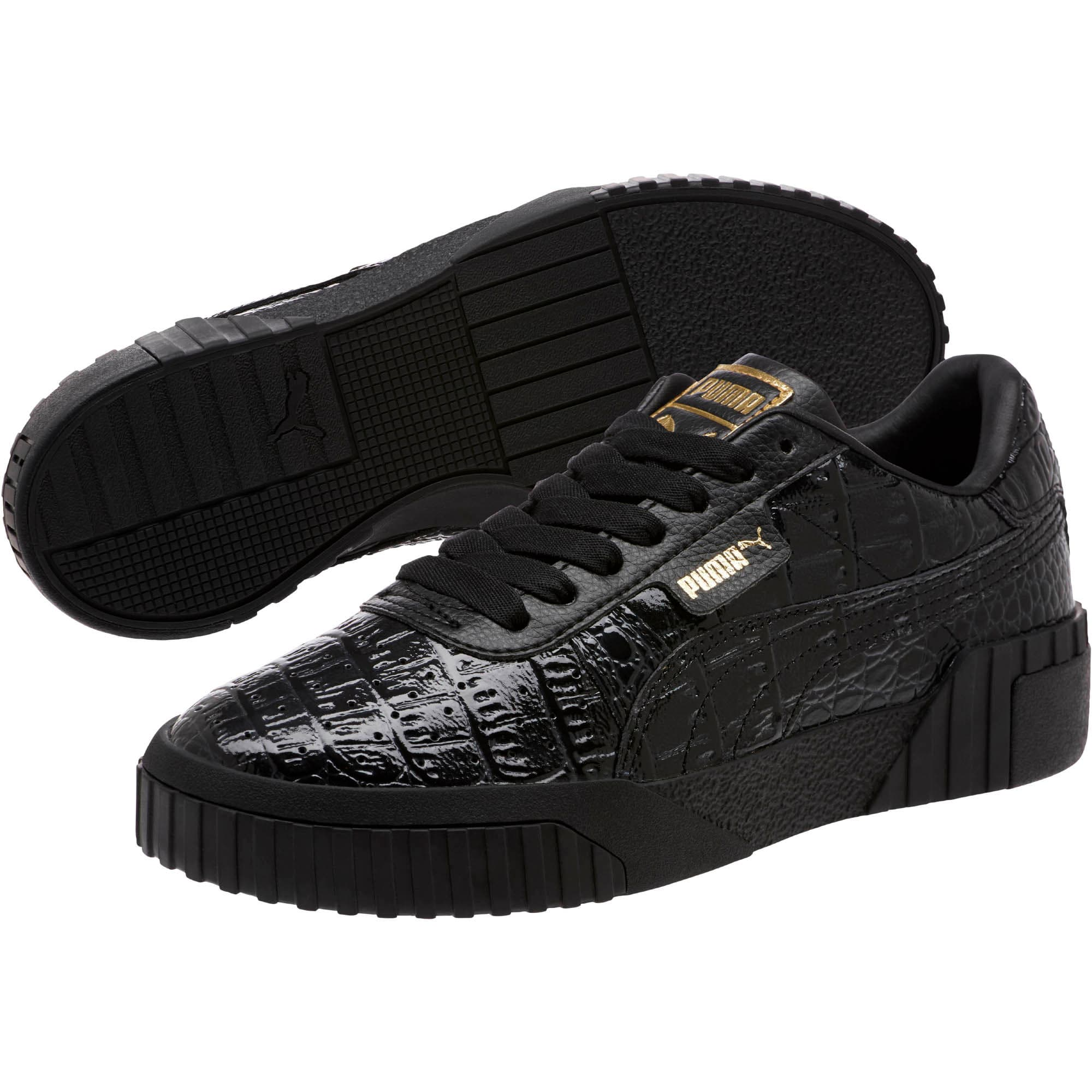 Thumbnail 2 of Cali Croc Women's Sneakers, Puma Black-Puma Black, medium