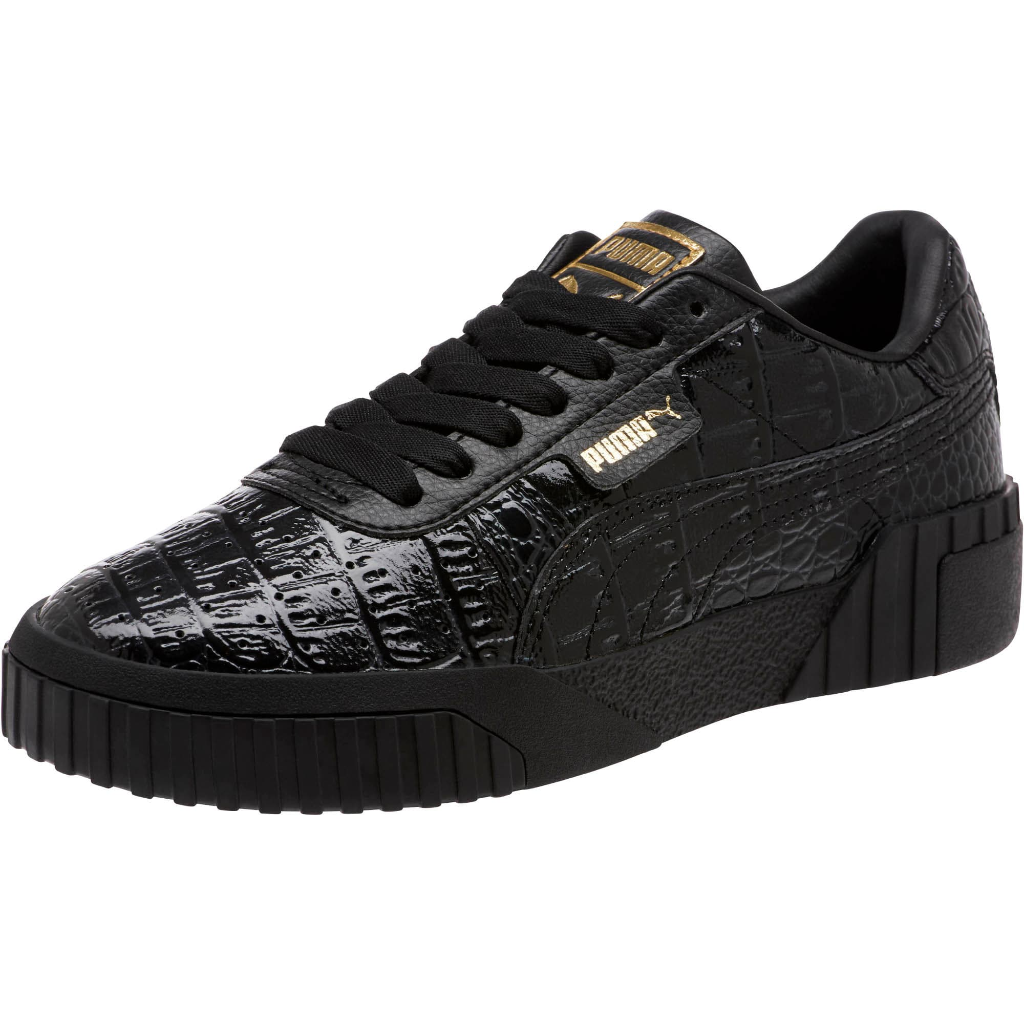 Thumbnail 1 of Cali Croc Women's Sneakers, Puma Black-Puma Black, medium