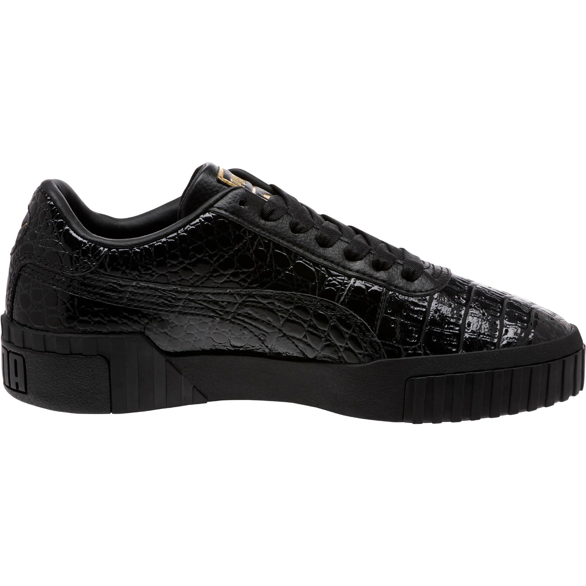 Thumbnail 4 of Cali Croc Women's Sneakers, Puma Black-Puma Black, medium