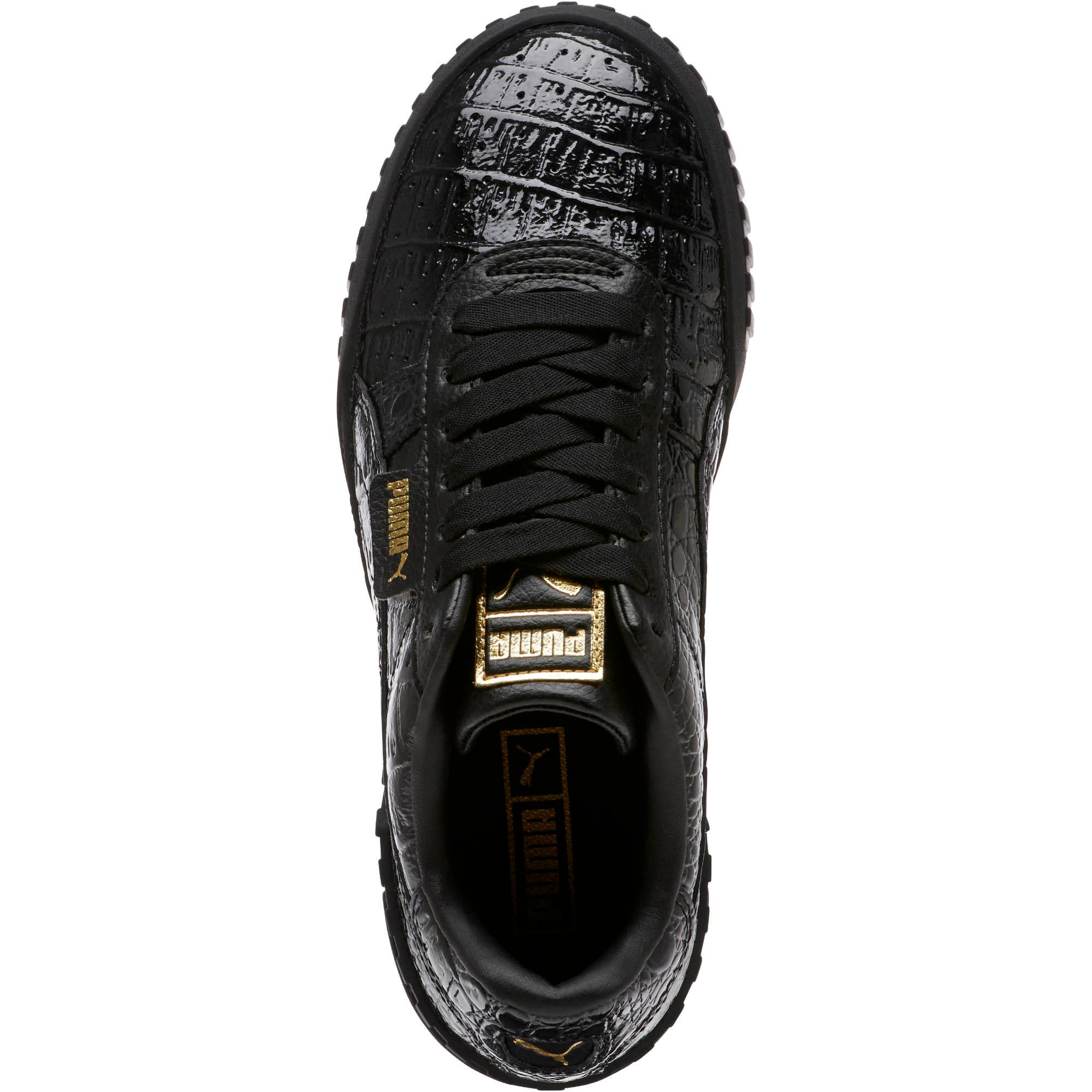 Thumbnail 5 of Cali Croc Women's Sneakers, Puma Black-Puma Black, medium