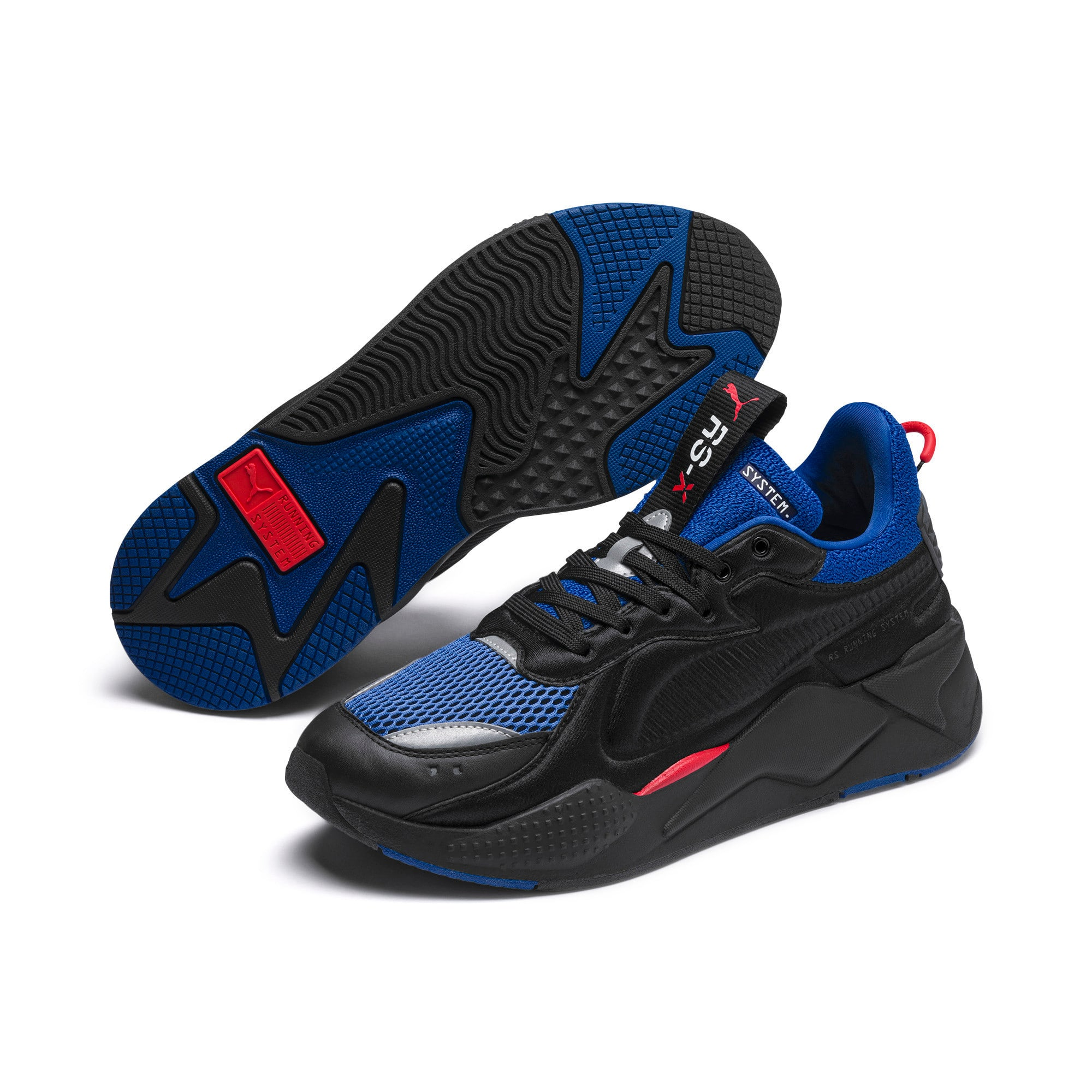 RS-X Softcase Trainers, Puma Black-Galaxy Blue, large