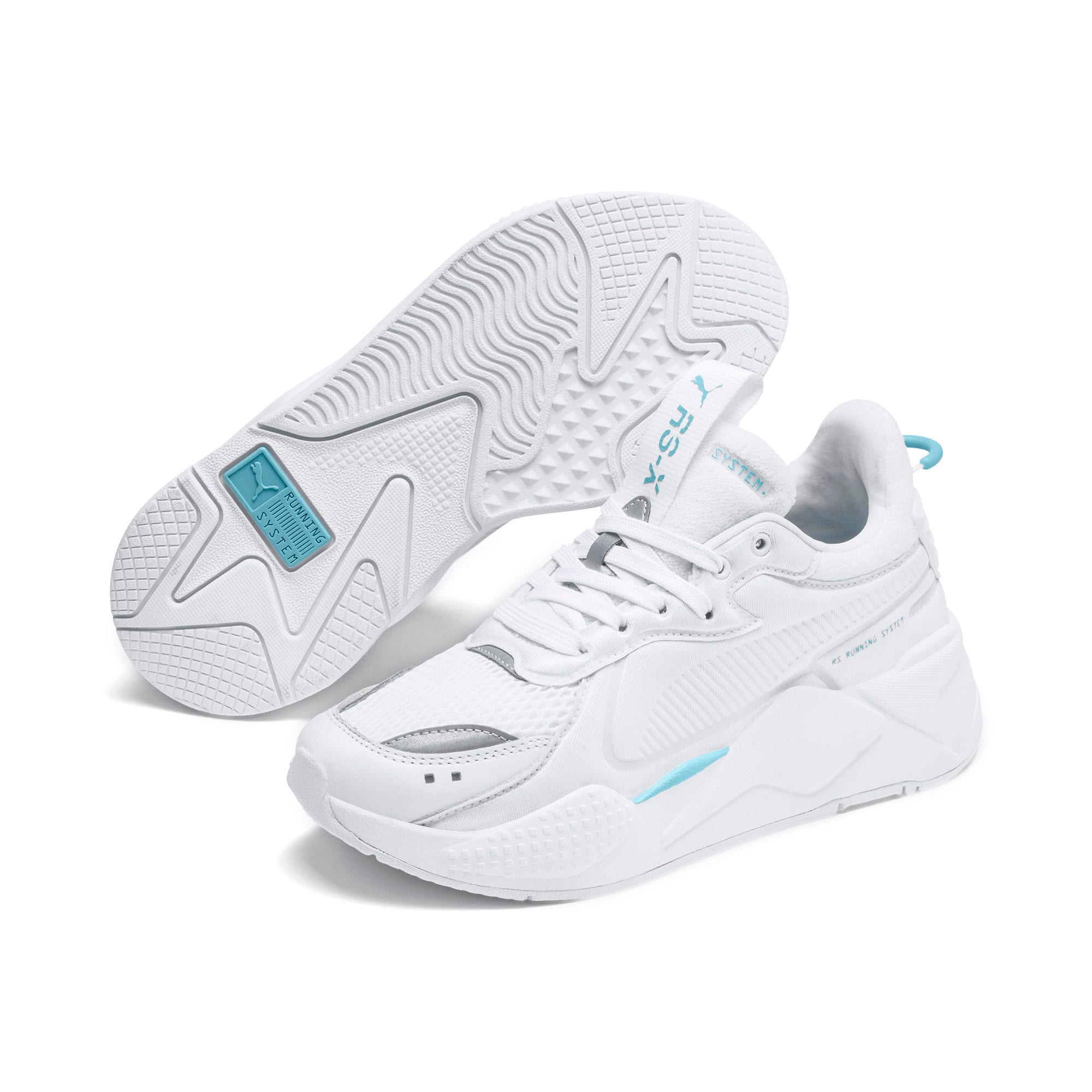 Thumbnail 3 of RS-X Softcase Trainers, Puma White-Milky Blue, medium