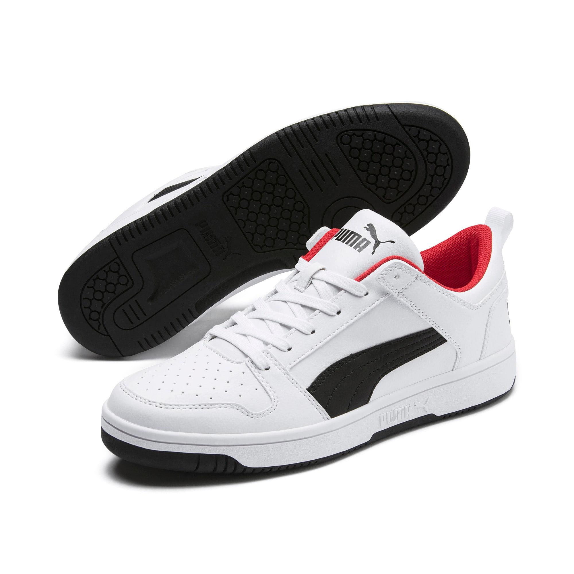 Miniatura 3 de Zapatos deportivos PUMA Rebound LayUp Lo, White-Black-High Risk Red, mediano