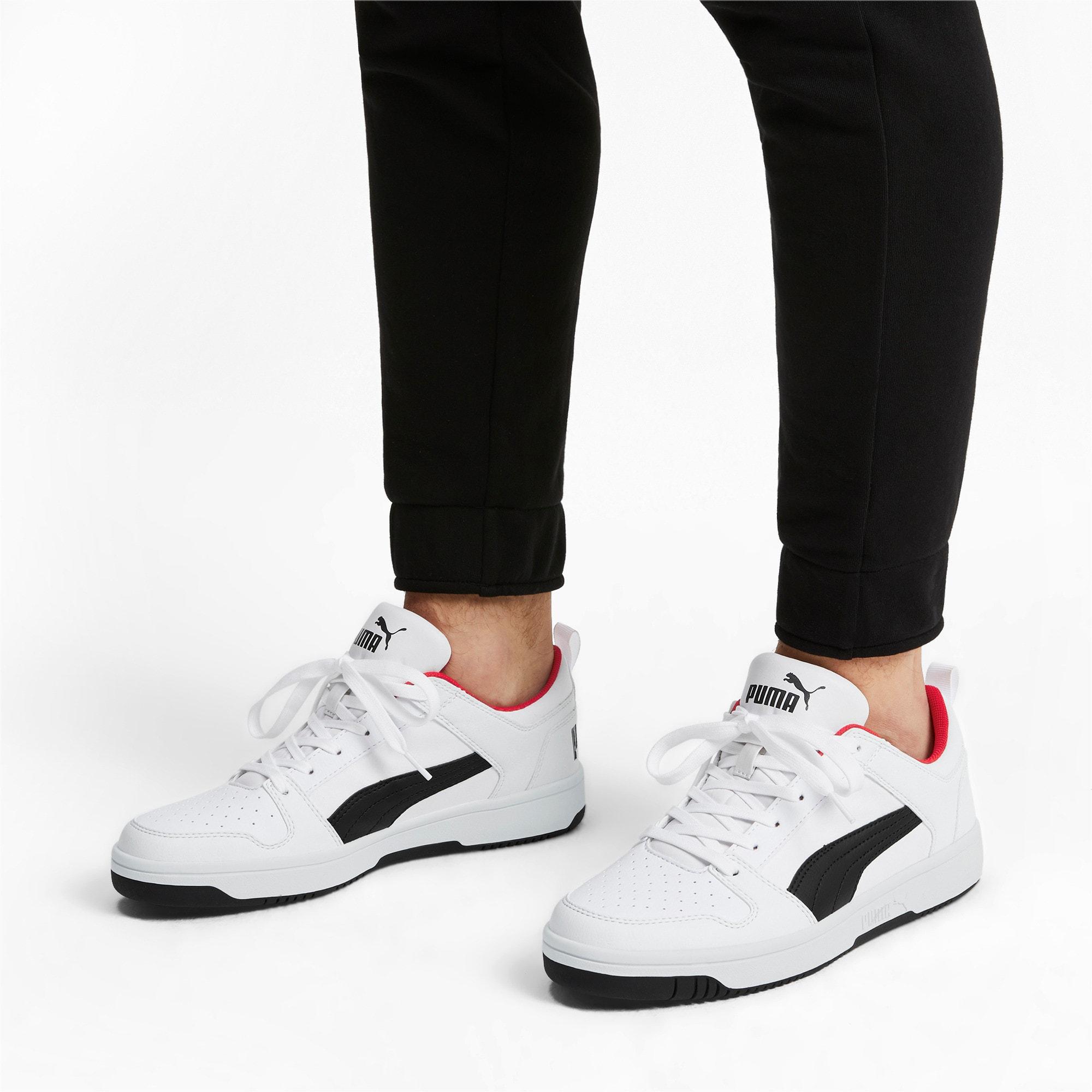 Miniatura 2 de Zapatos deportivos PUMA Rebound LayUp Lo, White-Black-High Risk Red, mediano