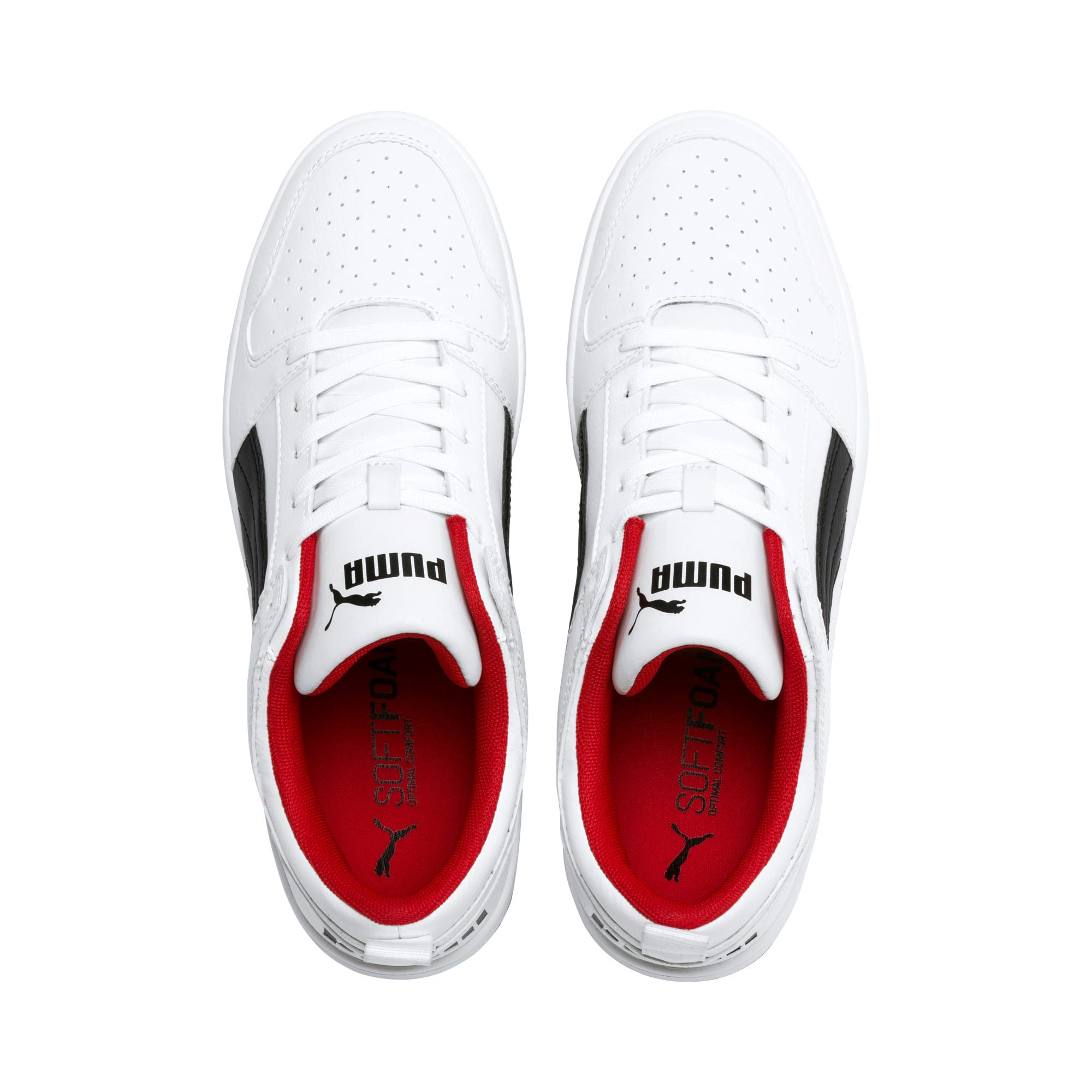 Miniatura 7 de Zapatos deportivos PUMA Rebound LayUp Lo, White-Black-High Risk Red, mediano