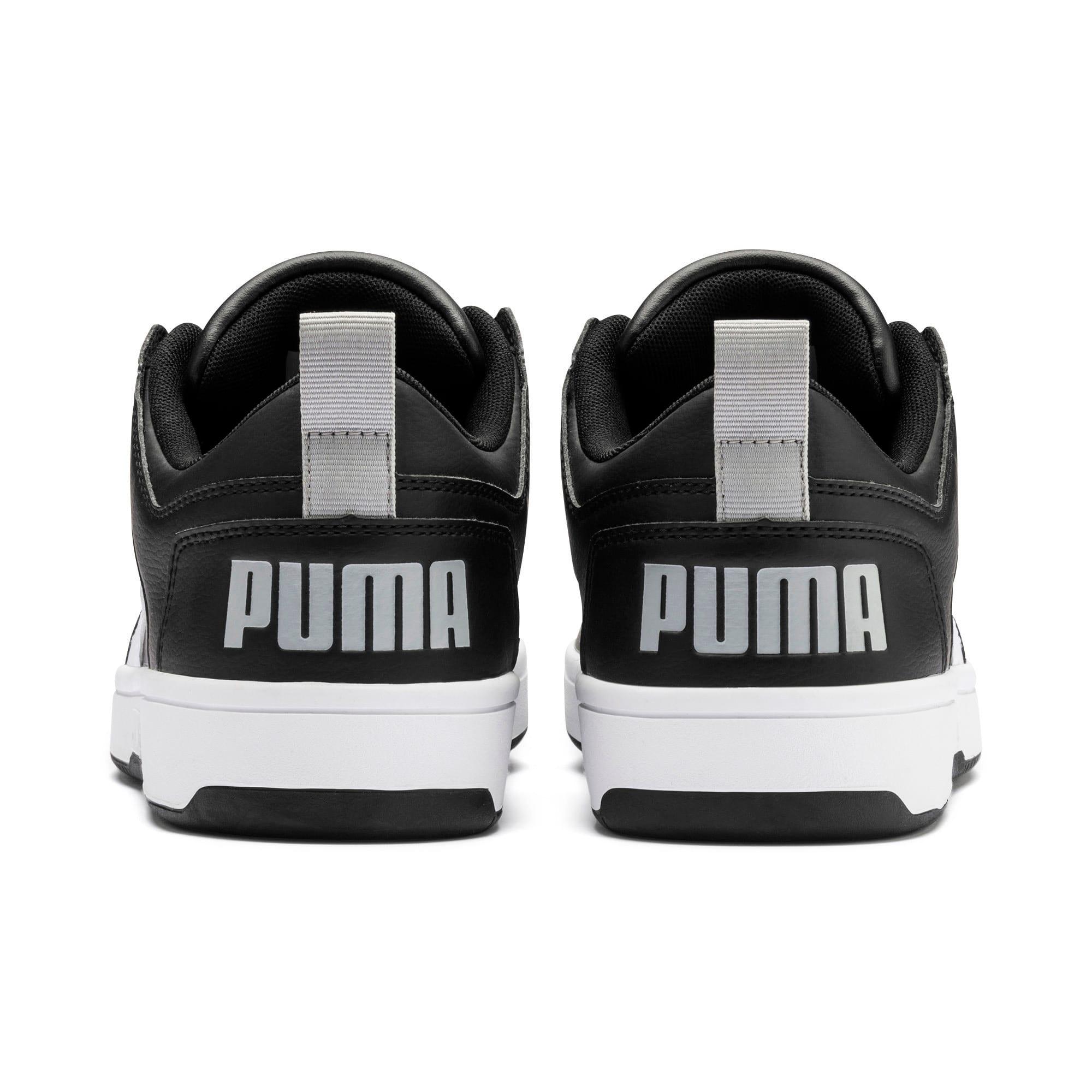 Thumbnail 4 of PUMA Rebound LayUp Lo Sneakers, Puma Black-White-High Rise, medium