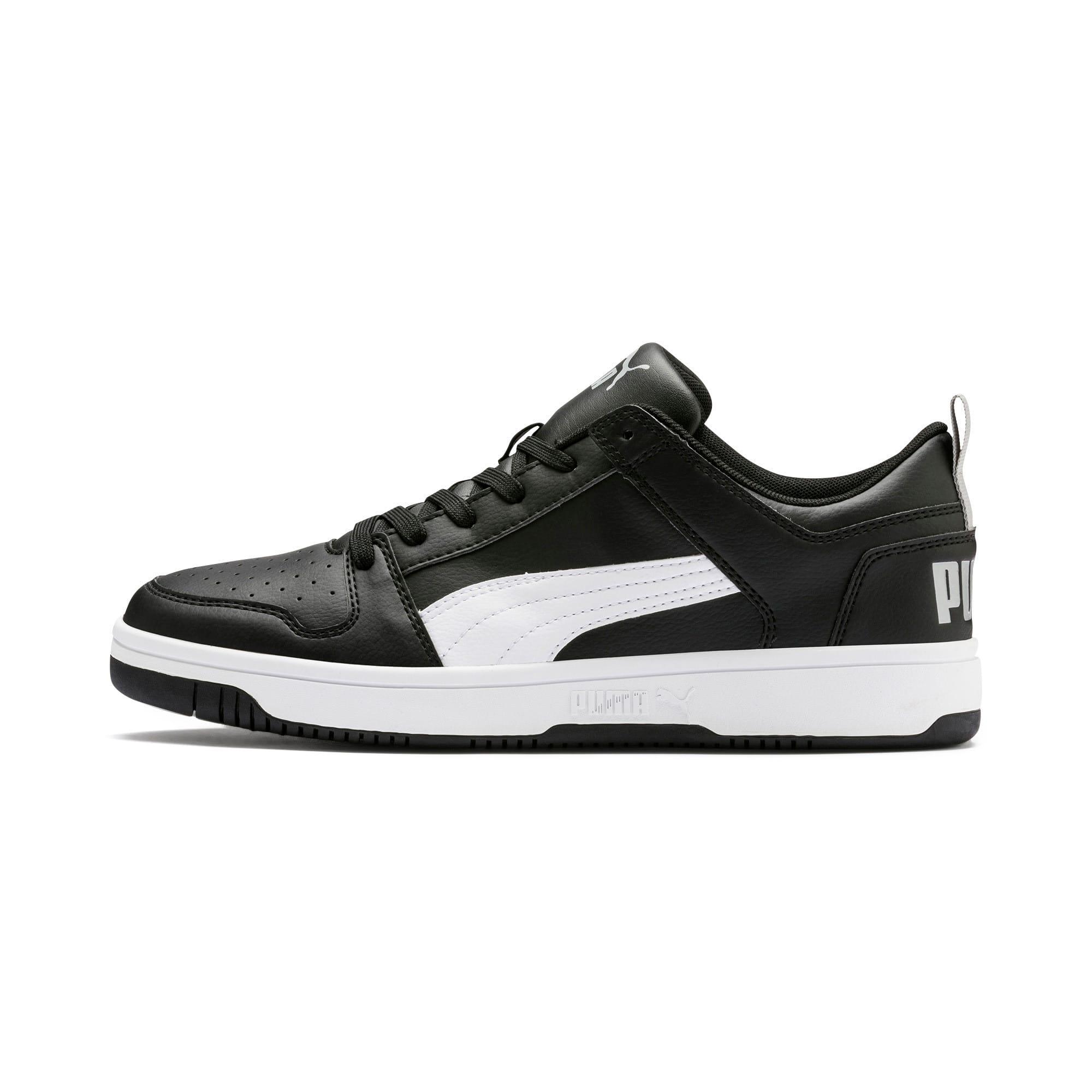 Thumbnail 1 of PUMA Rebound LayUp Lo Sneakers, Puma Black-White-High Rise, medium