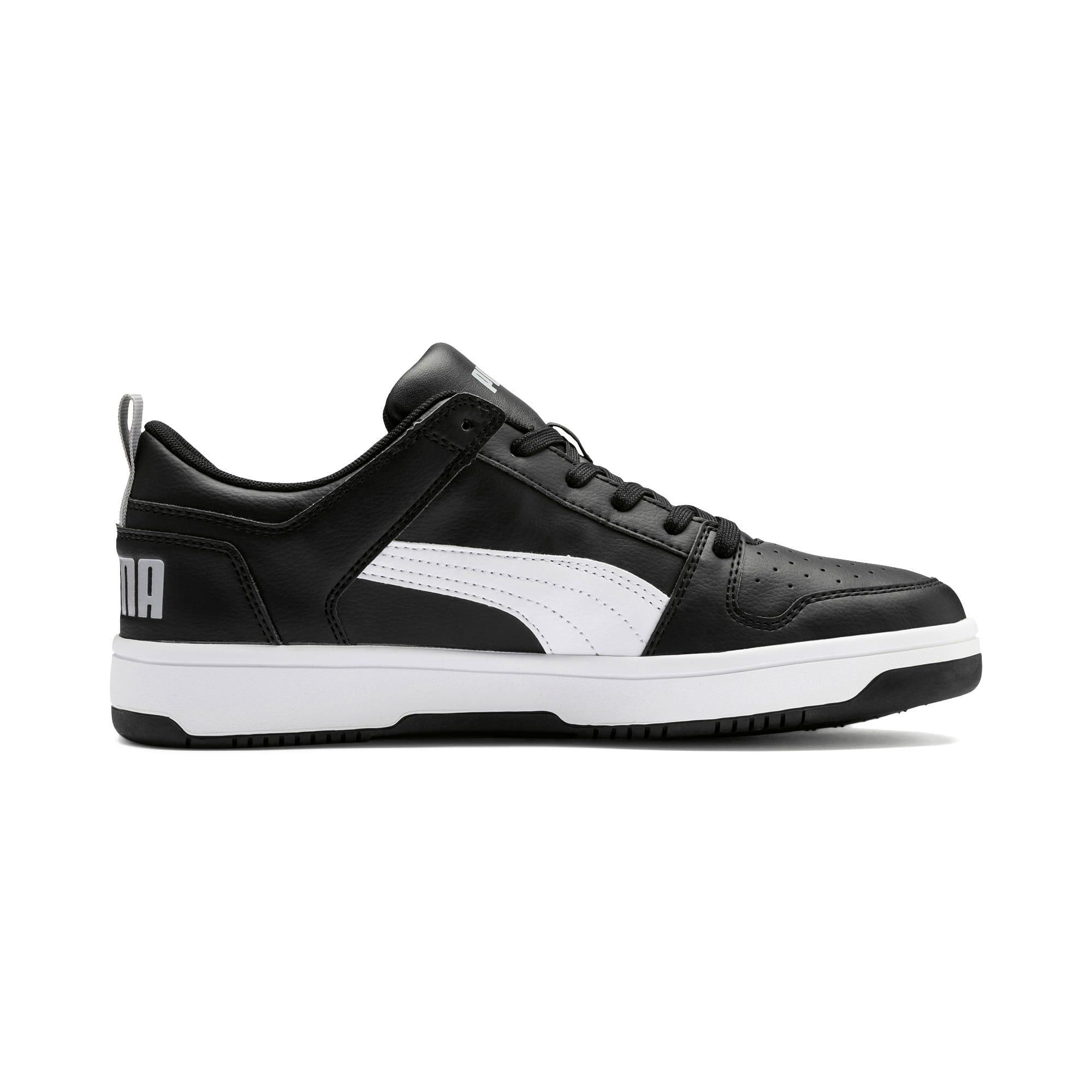Thumbnail 6 of PUMA Rebound LayUp Lo Sneakers, Puma Black-White-High Rise, medium