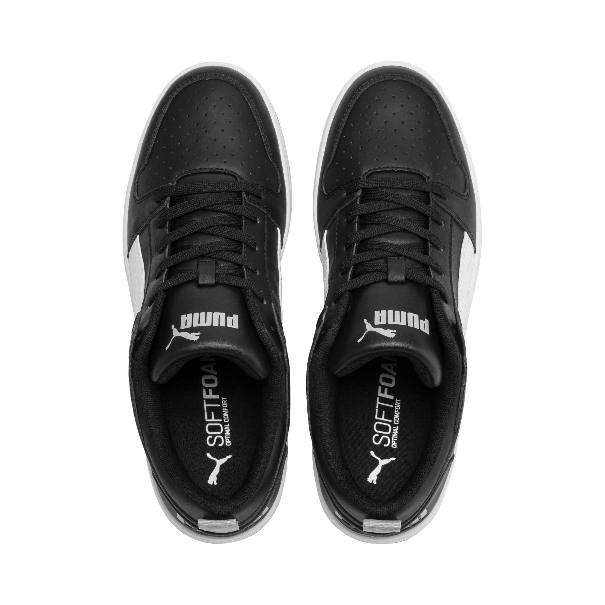 Thumbnail 7 of PUMA Rebound LayUp Lo Sneakers, Puma Black-White-High Rise, medium