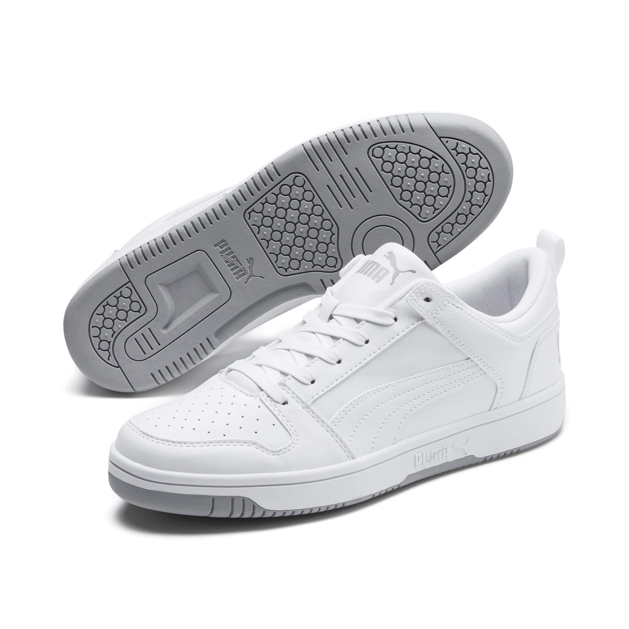 Thumbnail 3 of PUMA Rebound LayUp Lo Sneakers, Puma White-High Rise, medium