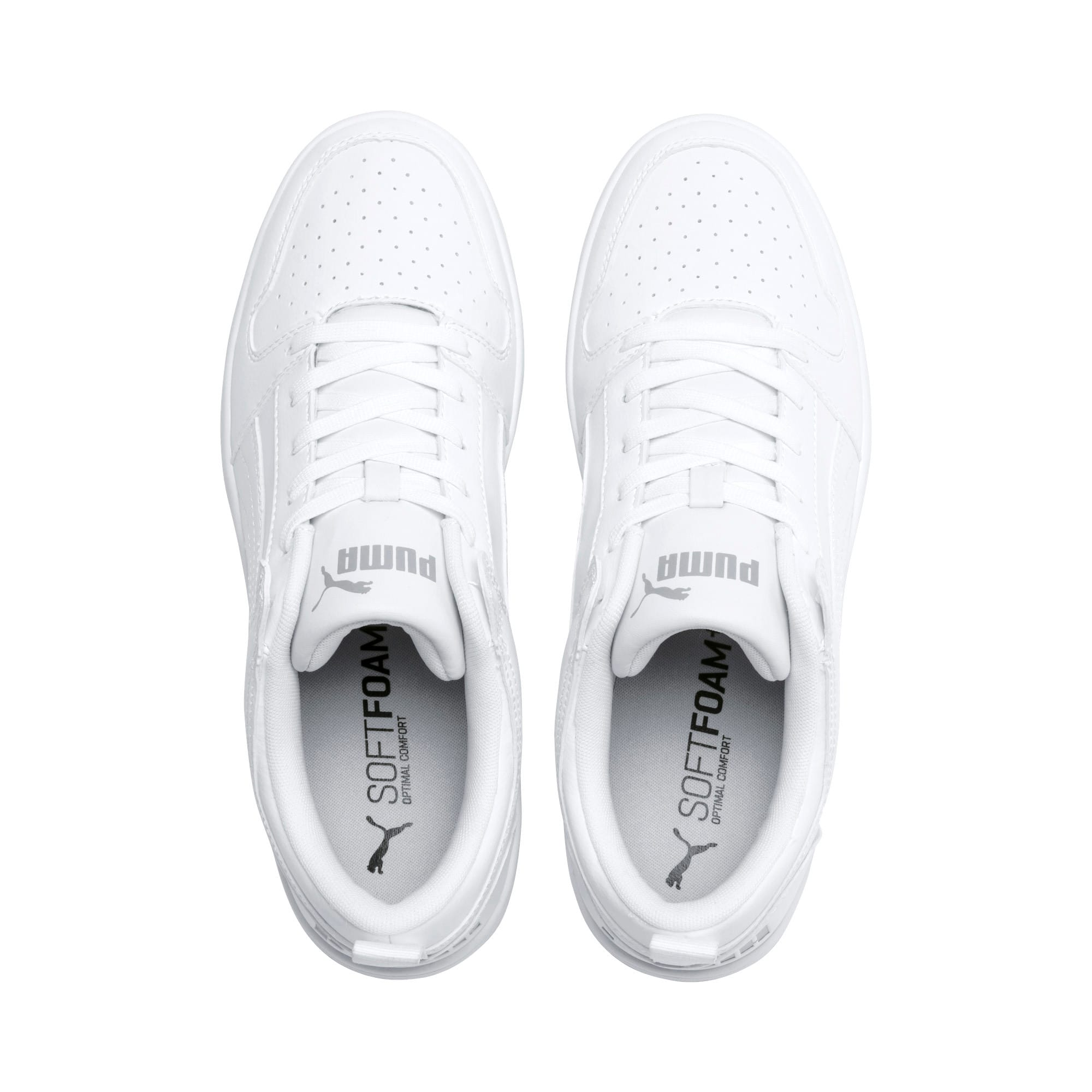 Thumbnail 7 of PUMA Rebound LayUp Lo Sneakers, Puma White-High Rise, medium