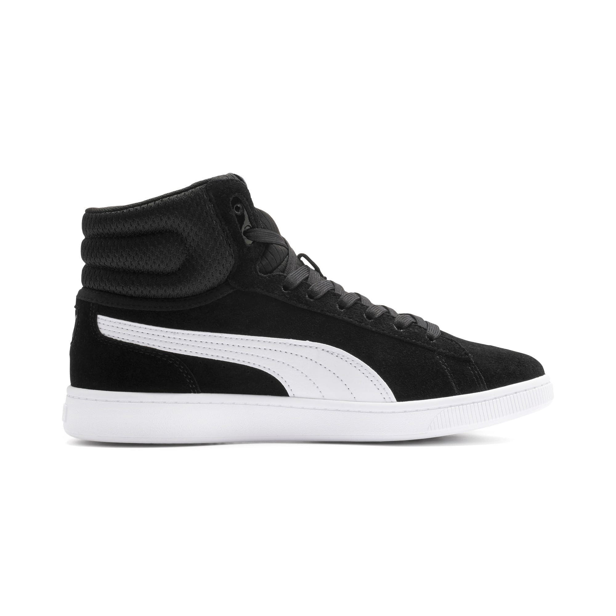 Thumbnail 6 of PUMA Vikky v2 Mid Women's Sneakers, Puma Black-White-Silver-Pink, medium