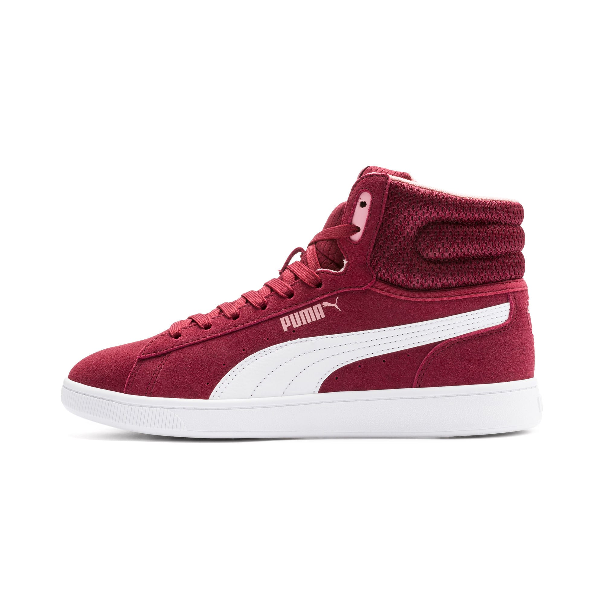 Thumbnail 1 of PUMA Vikky v2 Mid Women's Sneakers, Cordovan-White-Bridal Rose, medium