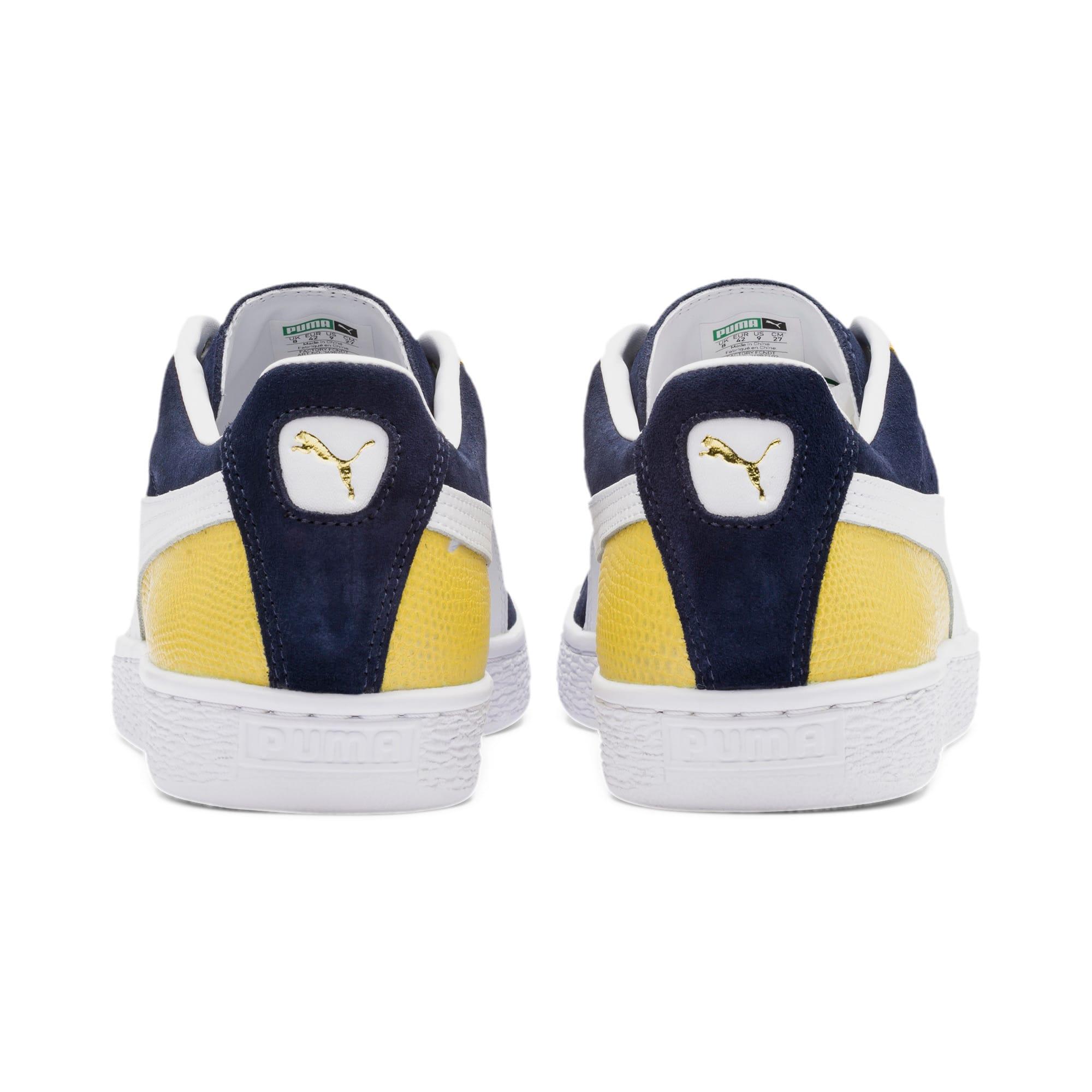 Miniatura 5 de Zapatos deportivos Suede Classic Block, Peacoat-Sulphur-Puma White, mediano