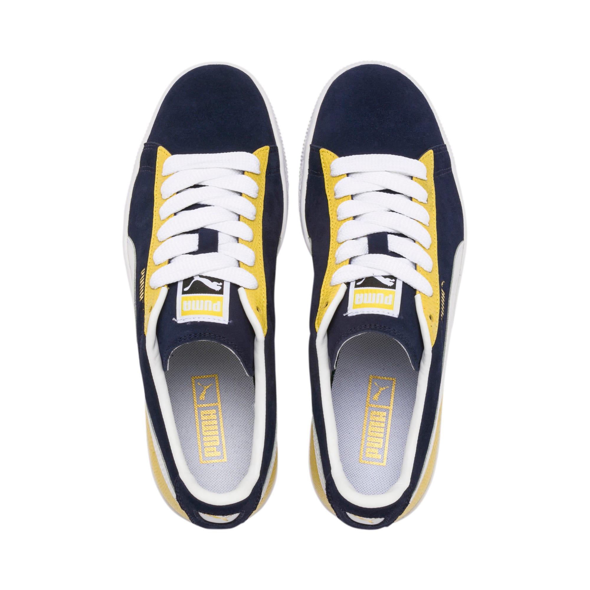 Thumbnail 7 of Suede Classic Block Sneakers, Peacoat-Sulphur-Puma White, medium