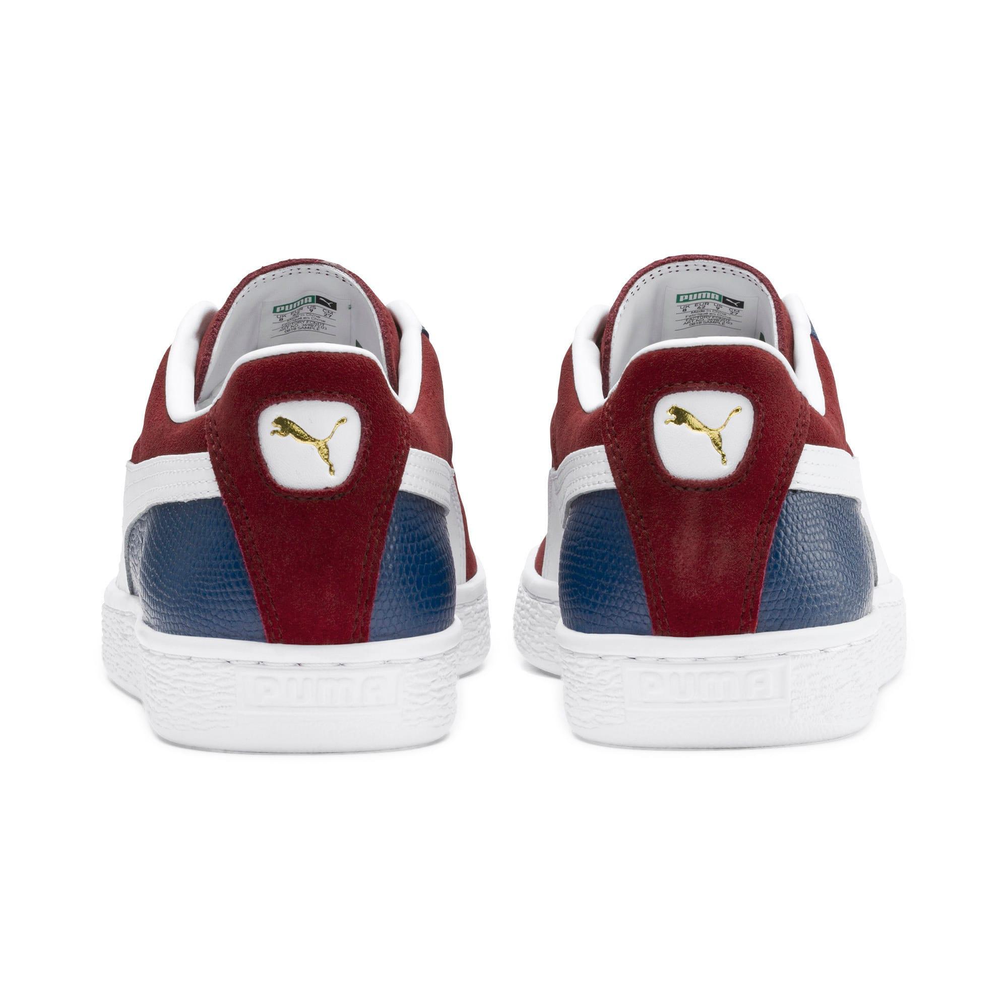 Miniatura 4 de Zapatos deportivos Suede Classic Block, Rhubarb-Azul-Blanco, mediano