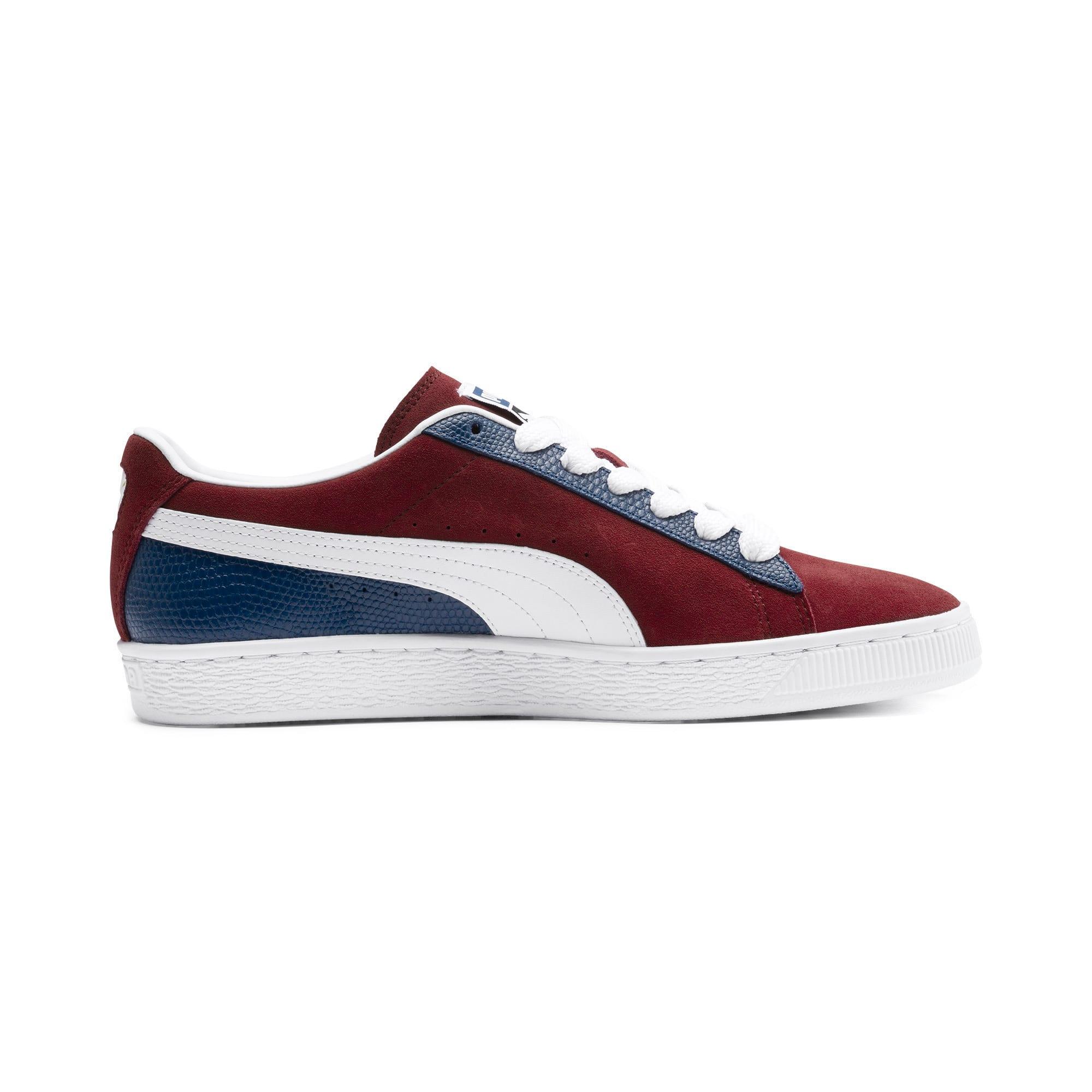 Thumbnail 6 of Suede Classic Block Sneakers, Rhubarb- Blue-White, medium