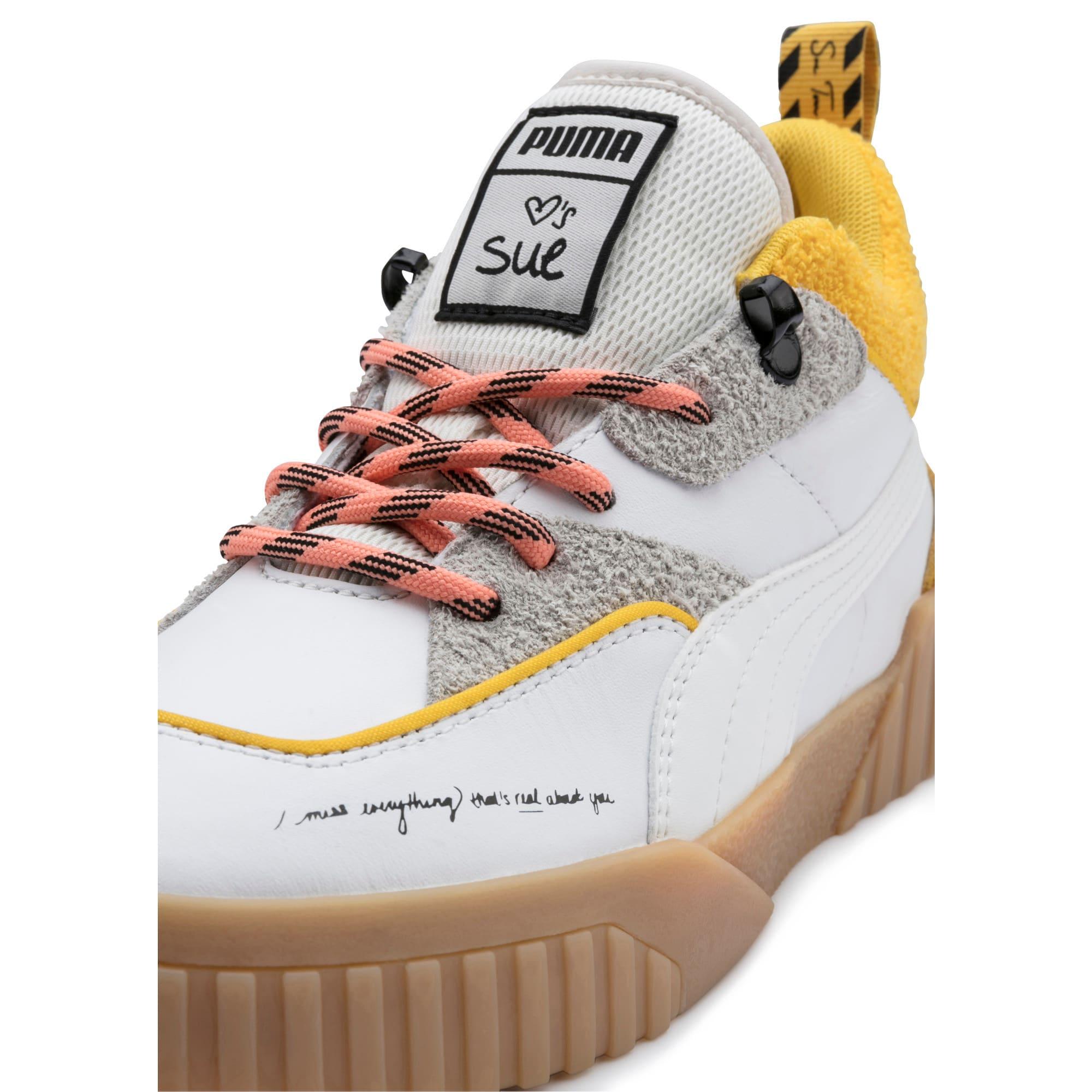 Thumbnail 7 of PUMA x SUE TSAI Cali Women's Sneakers, Bright White-Bright White, medium