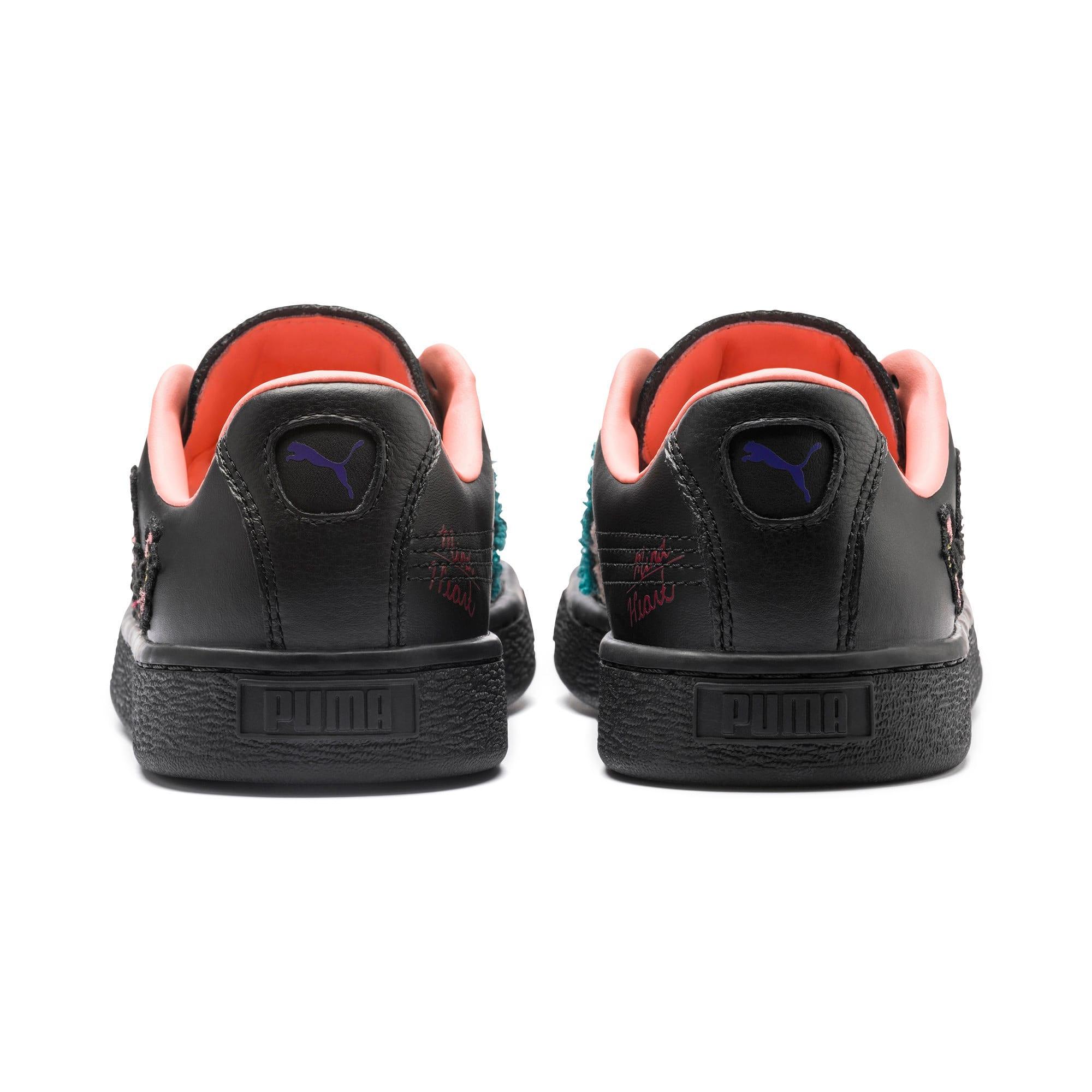 Thumbnail 3 of PUMA x SUE TSAI Basket Women's Sneakers, Puma Black, medium