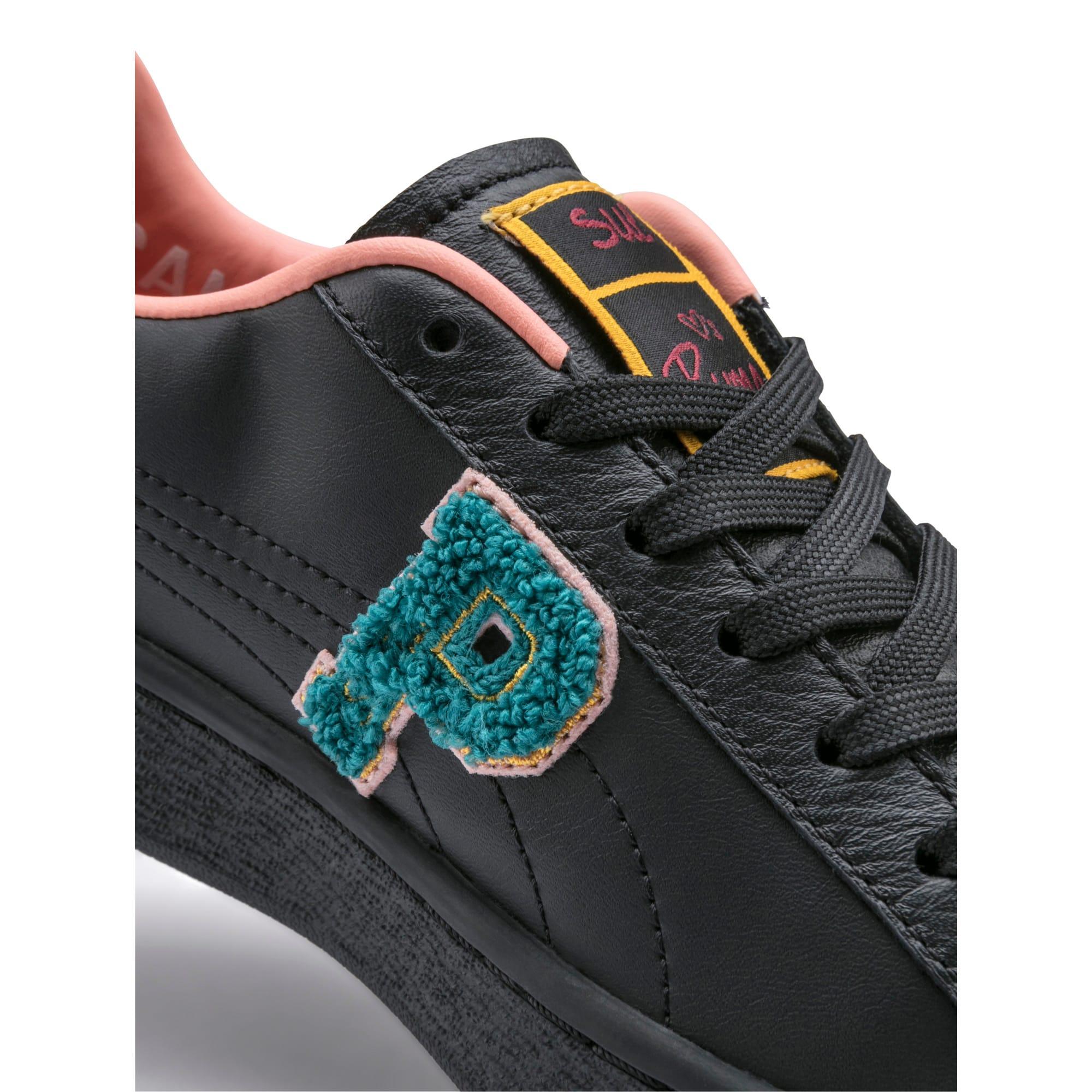 Thumbnail 7 of PUMA x SUE TSAI Basket Women's Sneakers, Puma Black, medium