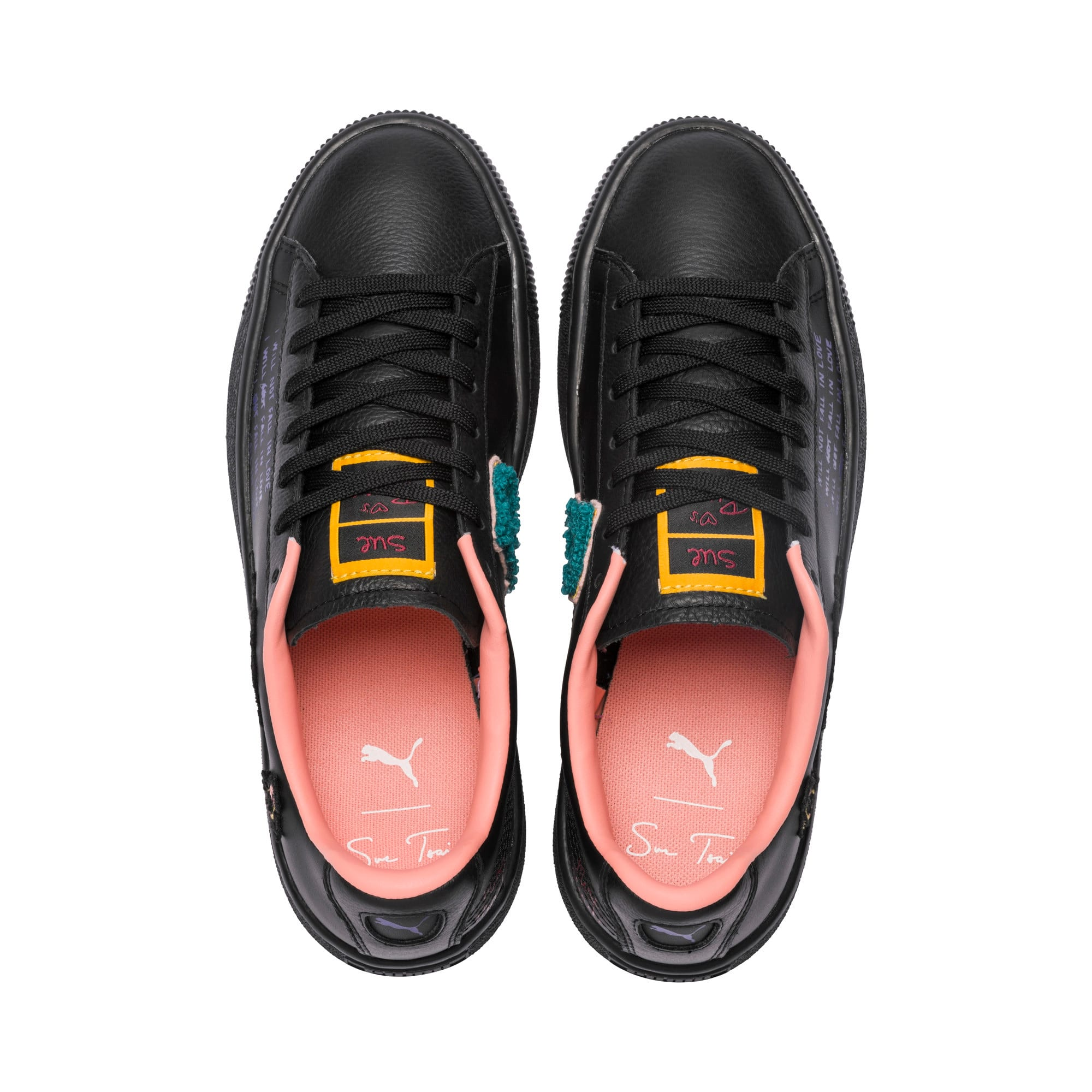 Thumbnail 6 of PUMA x SUE TSAI Basket Women's Sneakers, Puma Black, medium
