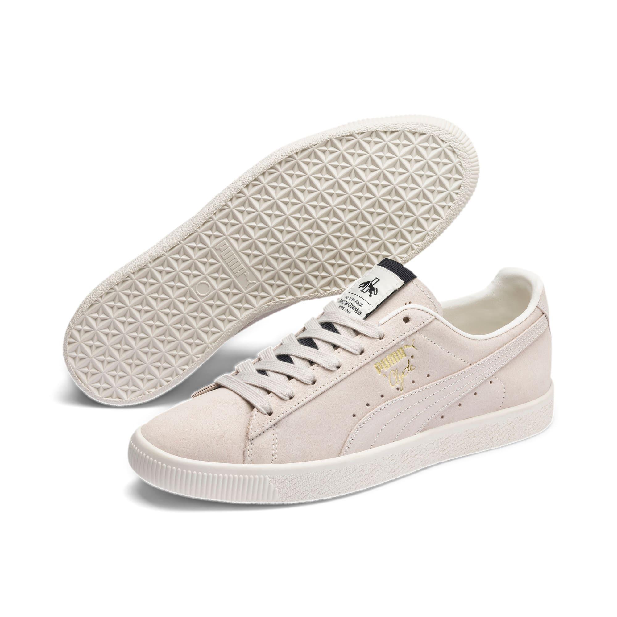 Thumbnail 2 of Clyde Fedora Sneakers, Whisper Wht-P Blk-WhisperWht, medium
