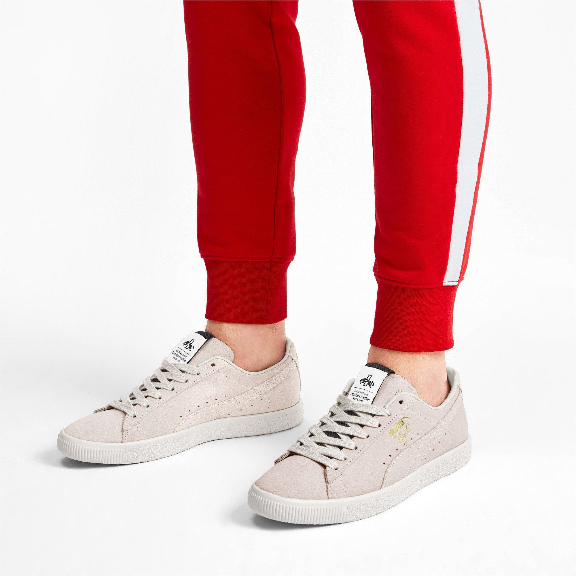 Thumbnail 3 of Clyde Fedora Sneakers, Whisper Wht-P Blk-WhisperWht, medium