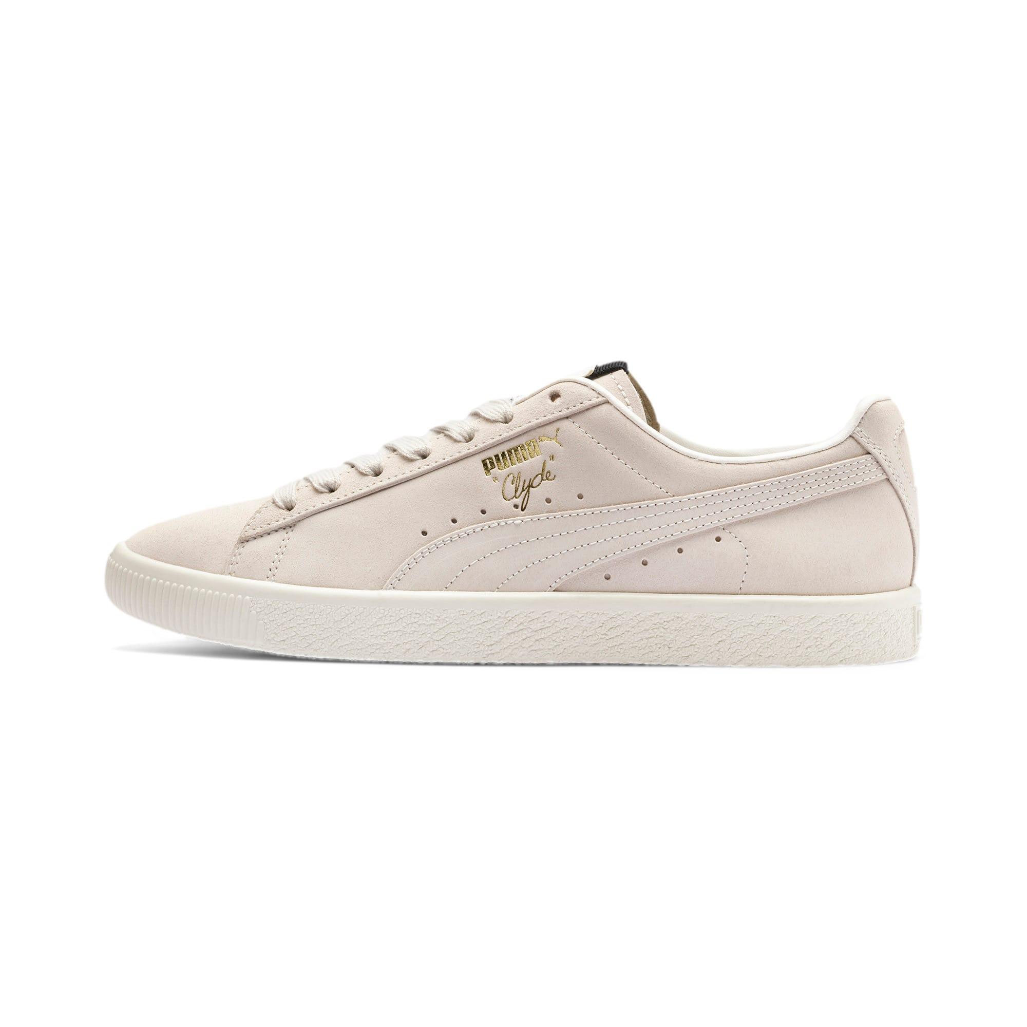 Thumbnail 1 of Clyde Fedora Sneakers, Whisper Wht-P Blk-WhisperWht, medium