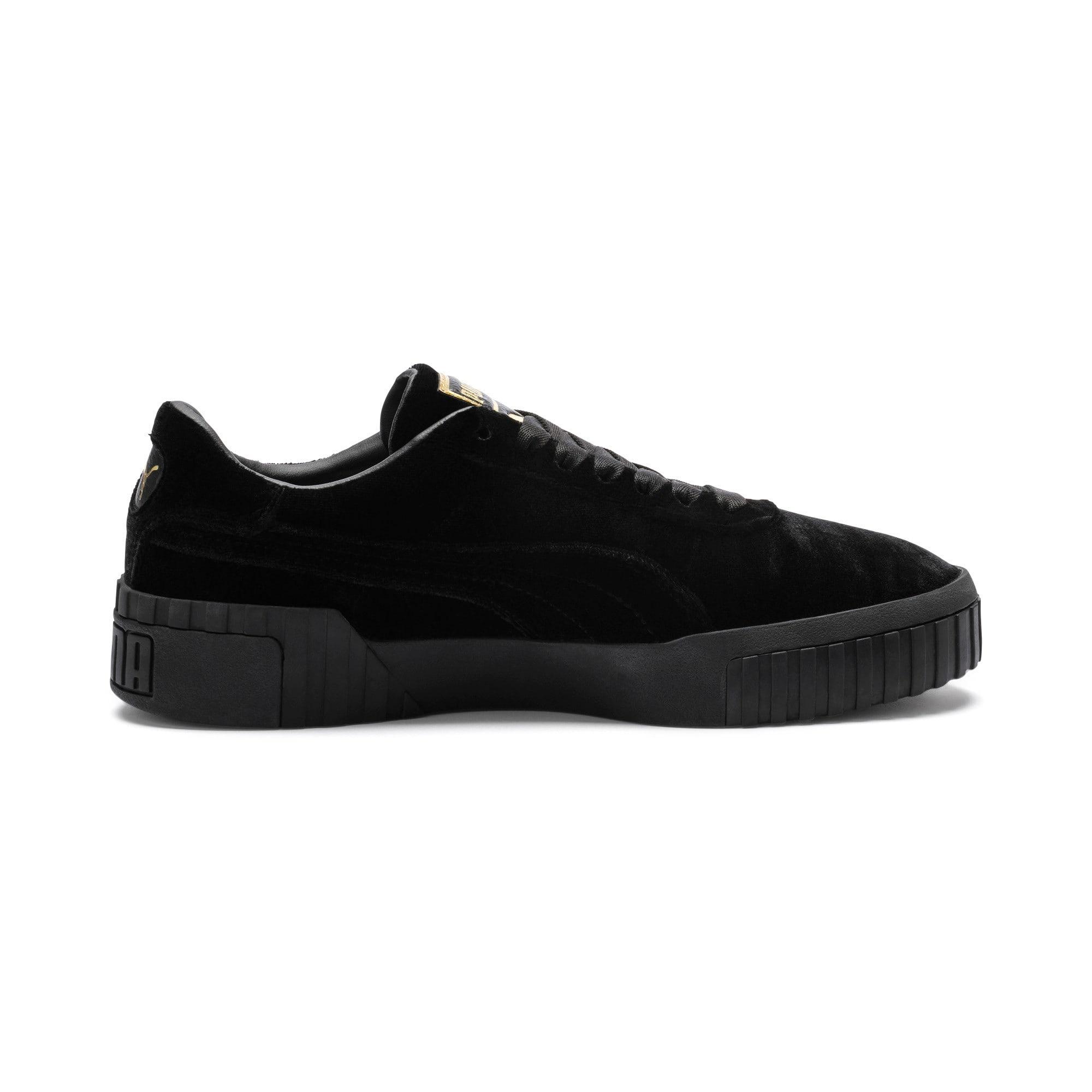Thumbnail 5 of Cali Velvet Women's Sneakers, Puma Black-Puma Black, medium