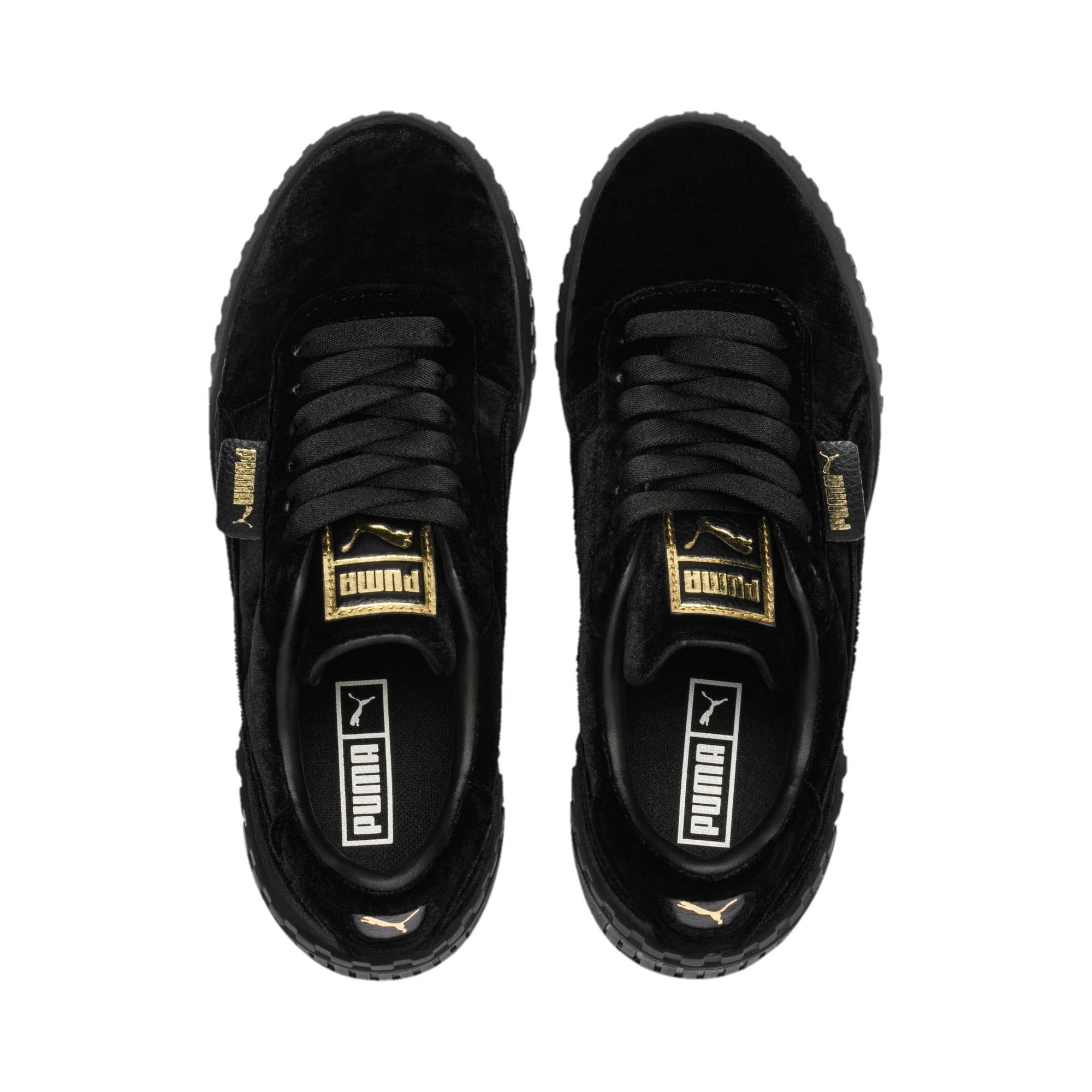 Thumbnail 6 of Cali Velvet Women's Sneakers, Puma Black-Puma Black, medium