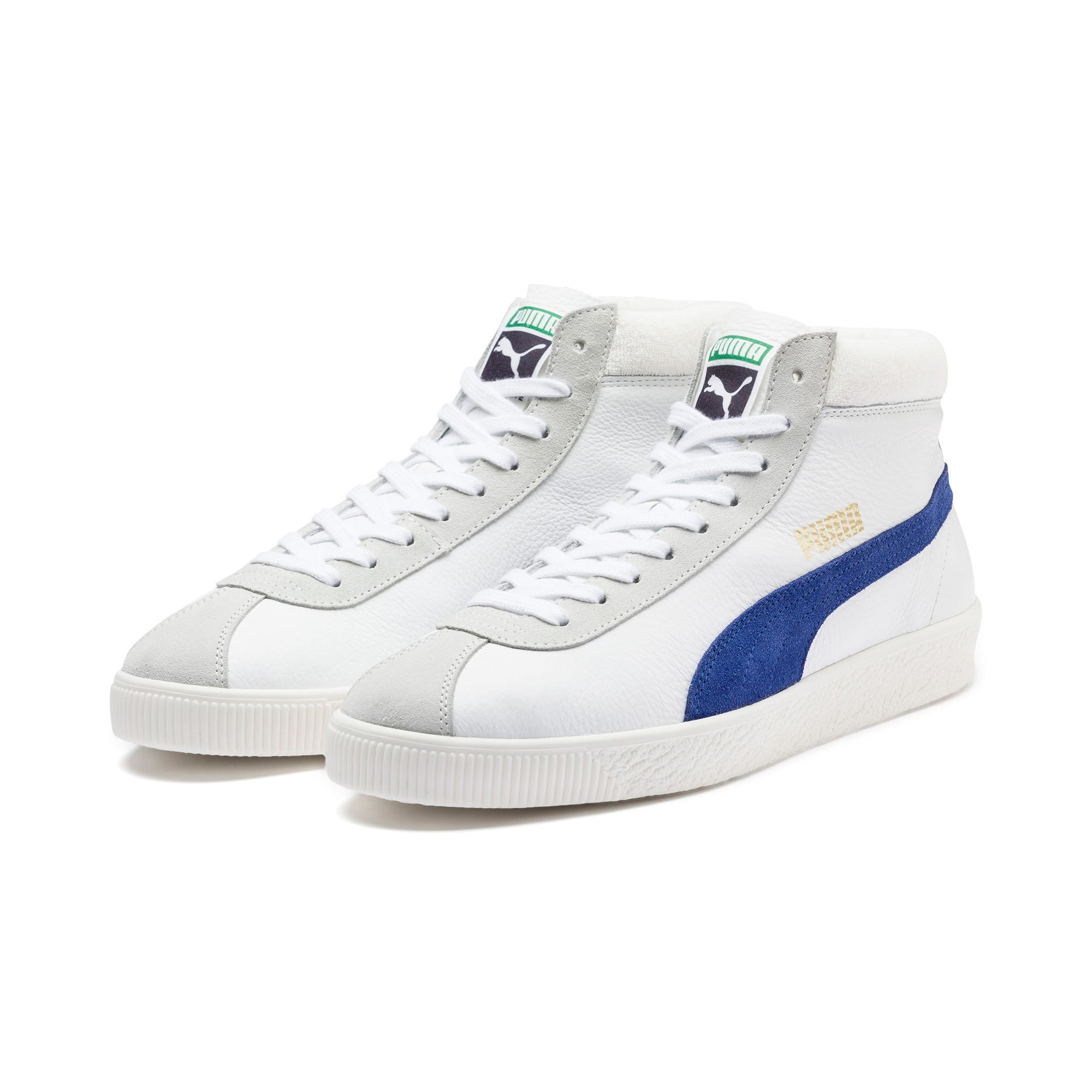 Thumbnail 3 of Basket '68 Mid Trainers, Puma White-Galaxy Blue, medium