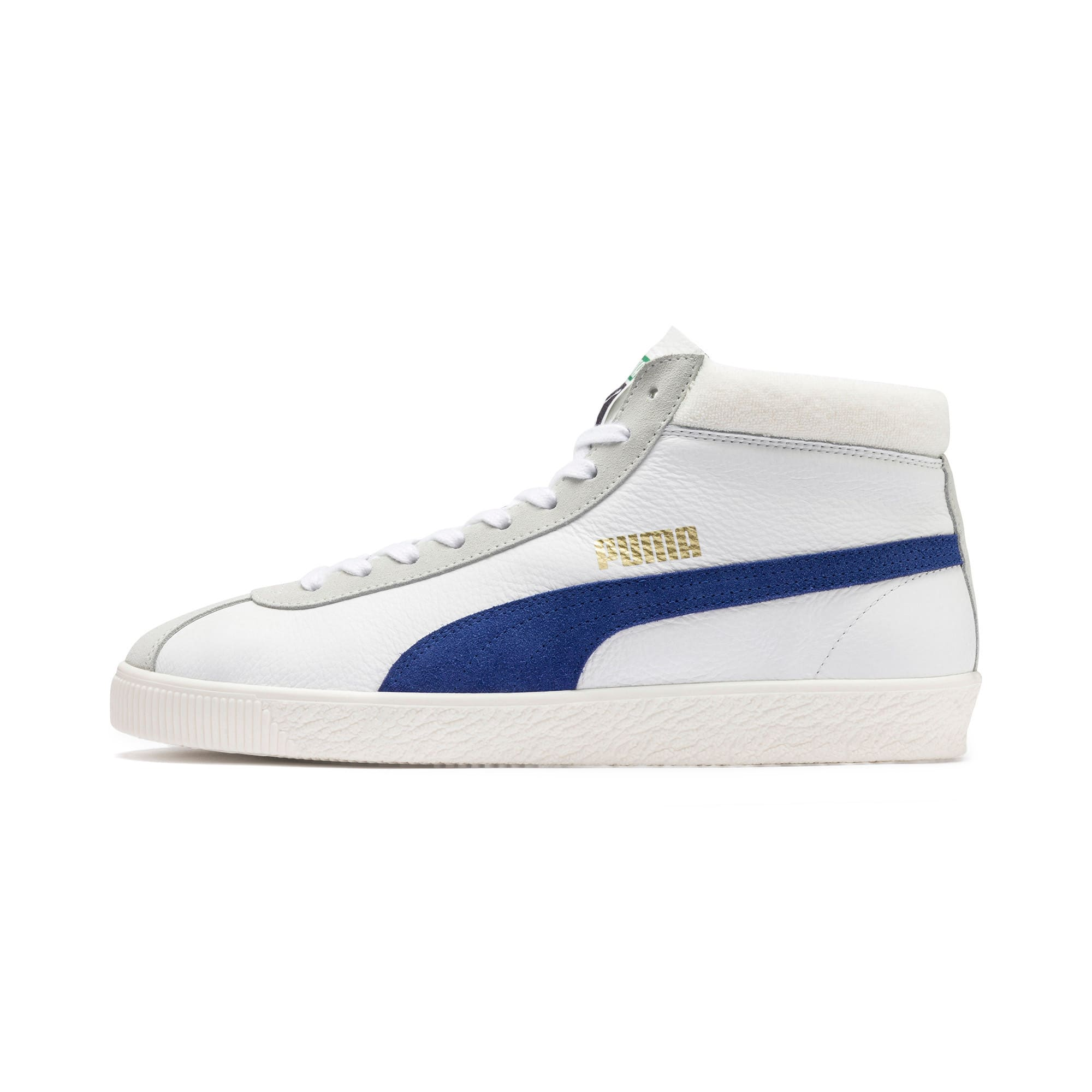 Thumbnail 1 of Basket '68 Mid Trainers, Puma White-Galaxy Blue, medium