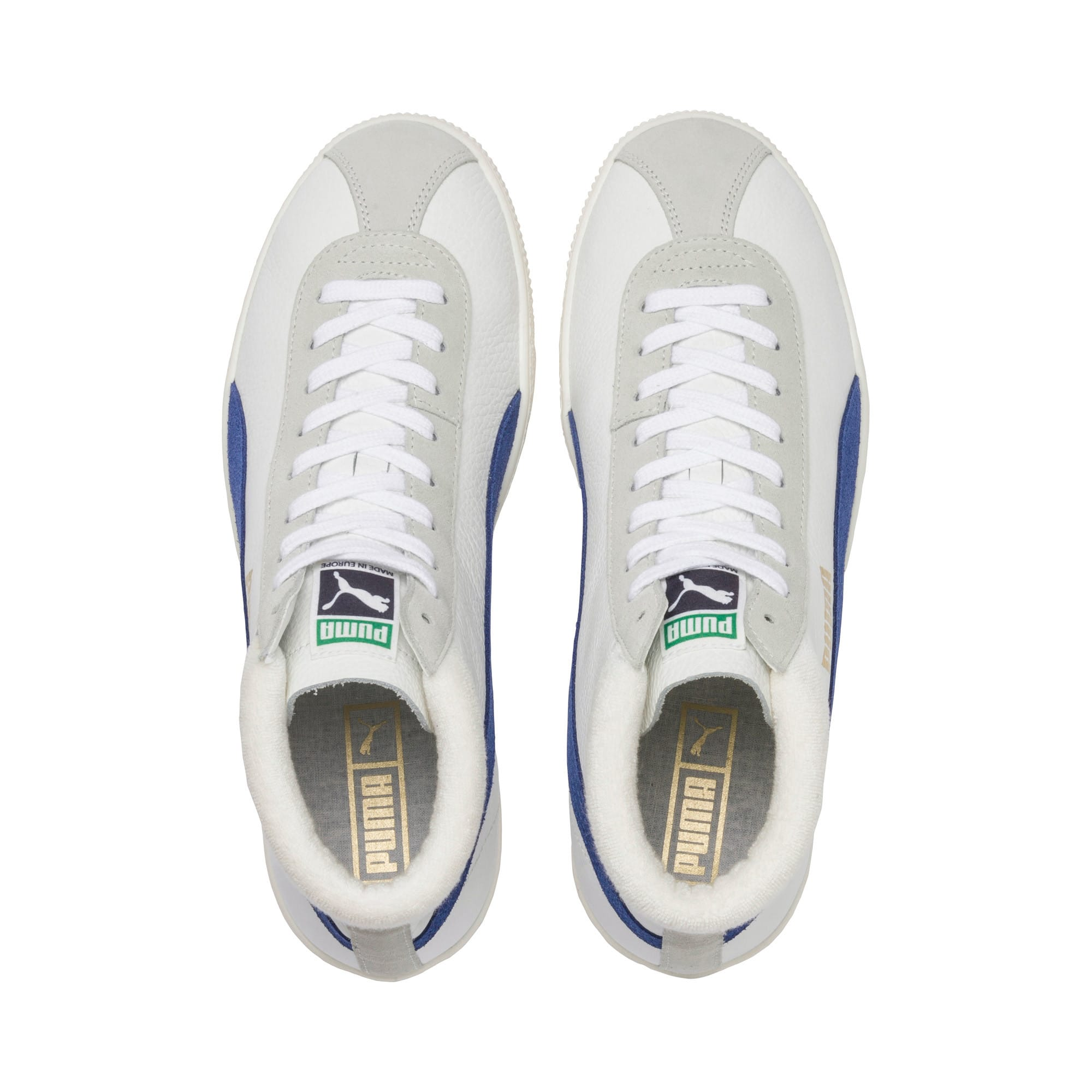 Thumbnail 7 of Basket '68 Mid Trainers, Puma White-Galaxy Blue, medium