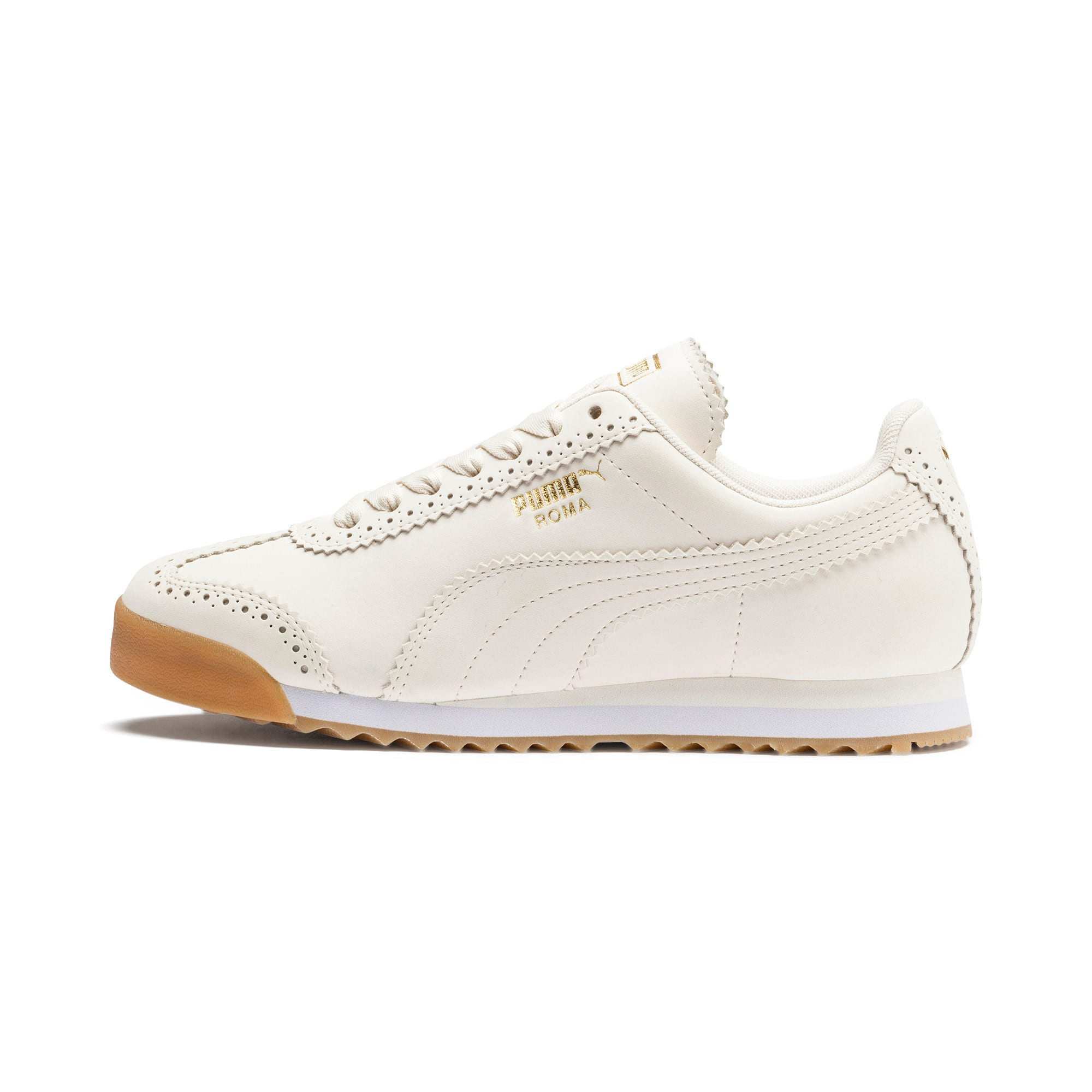 Thumbnail 1 of Roma Brogue Women's Sneakers, Pastel Parchment-P.Team Gold, medium