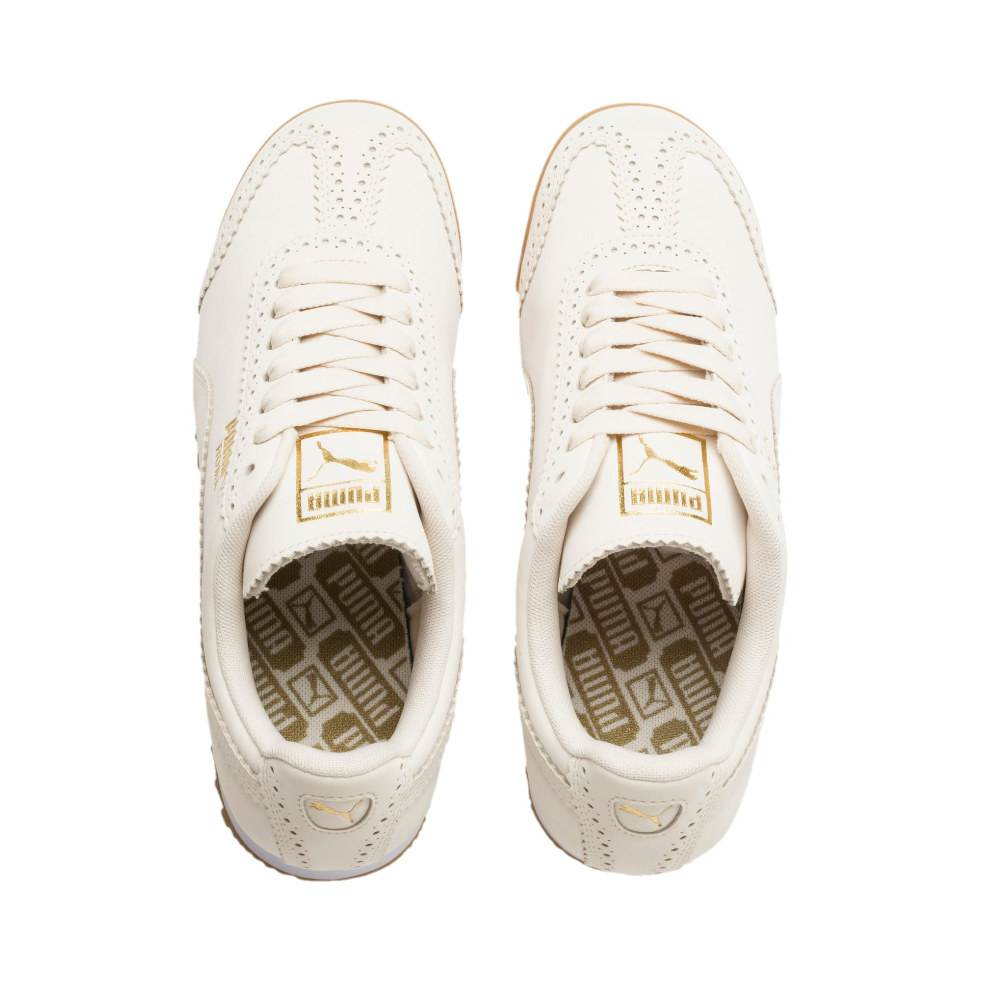 Miniatura 7 de Zapatos deportivos Roma Brogue para mujer, Pastel Parchment-P.Team Gold, mediano