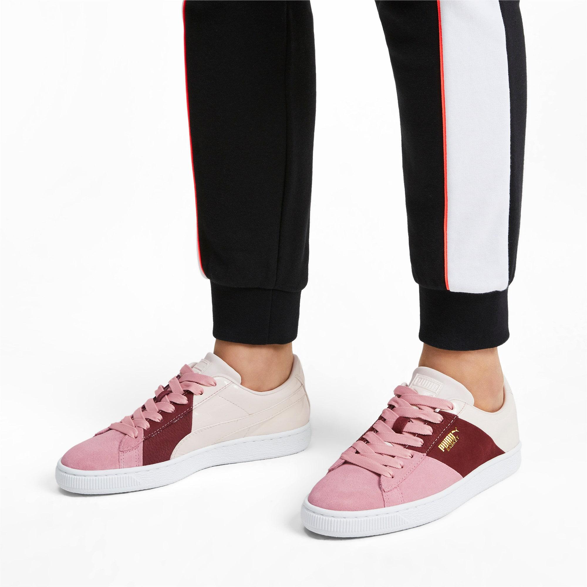 Thumbnail 2 of Basket Remix Women's Sneakers, Bridal Rose-Fired Brick, medium