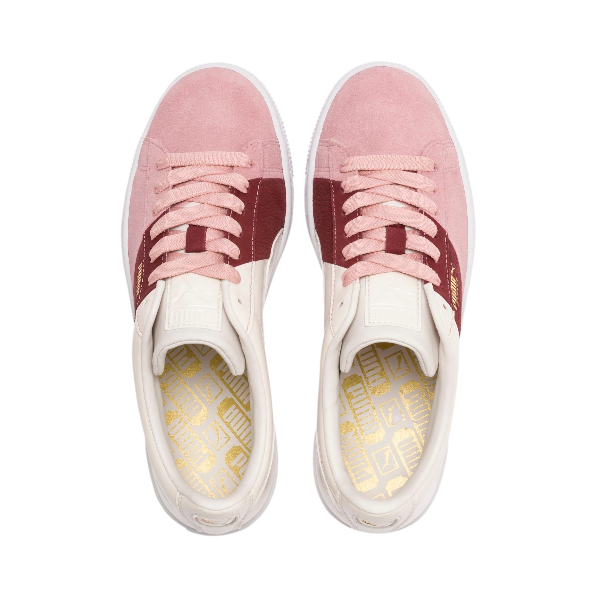 Thumbnail 7 of Basket Remix Women's Sneakers, Bridal Rose-Fired Brick, medium