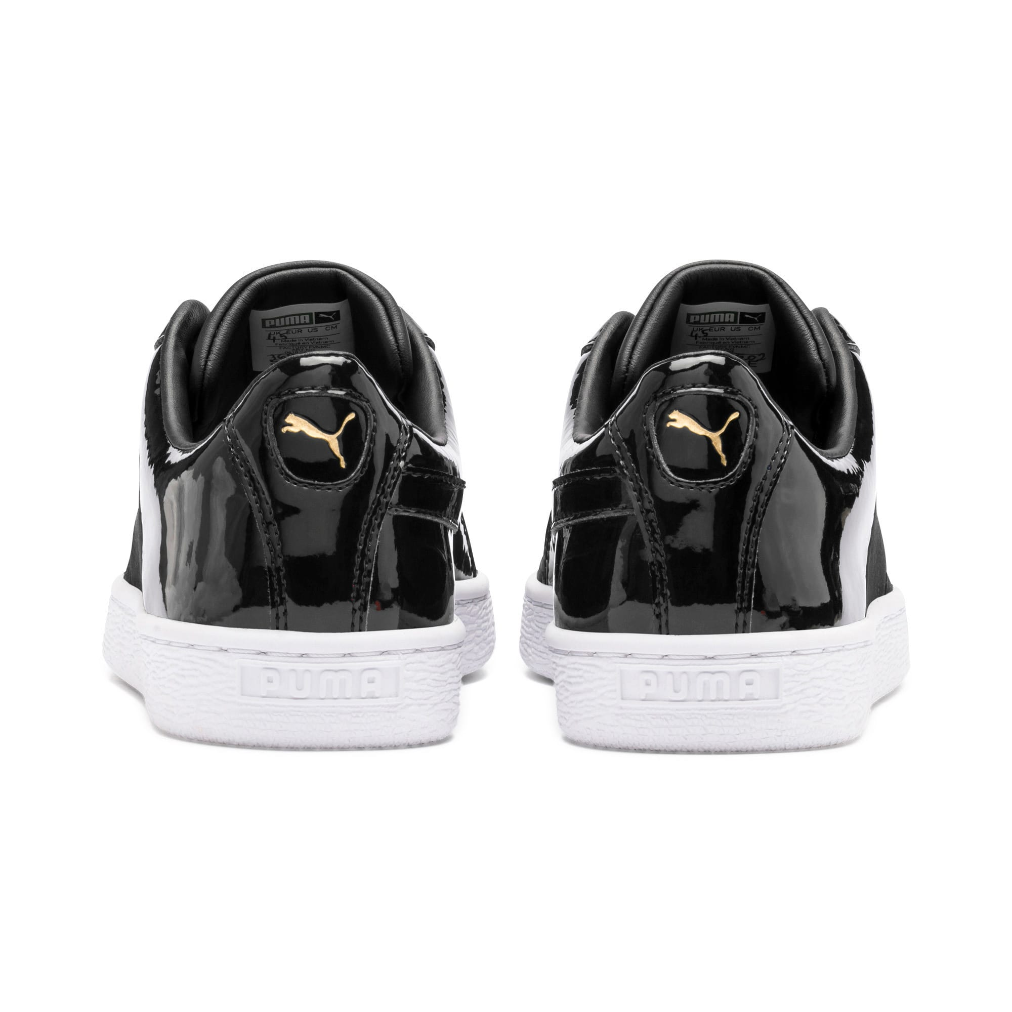 Thumbnail 4 of Basket Remix Women's Trainers, Puma Black-Puma Team Gold, medium