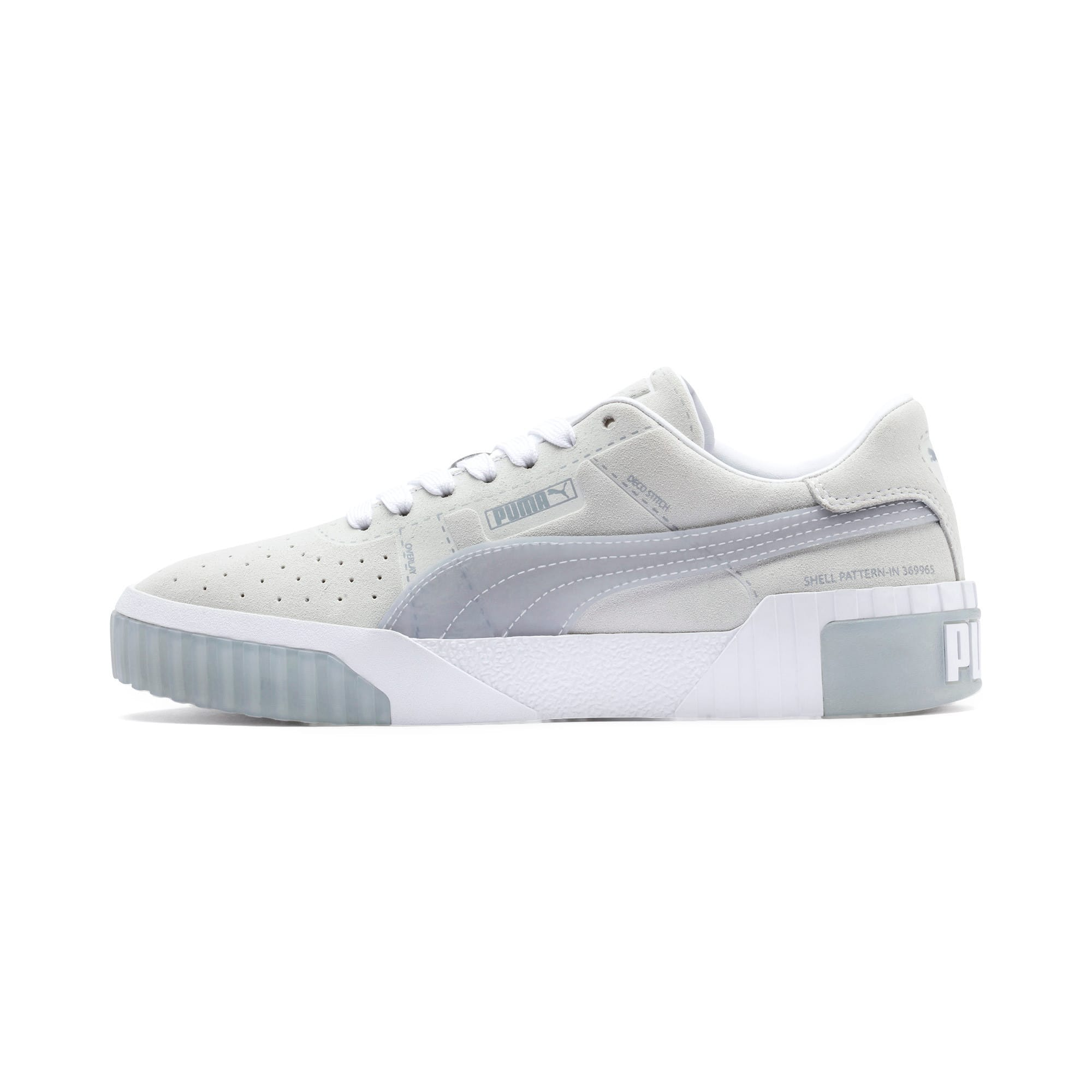Thumbnail 1 of Cali Patternmaster Women's Trainers, Puma White-Quarry, medium