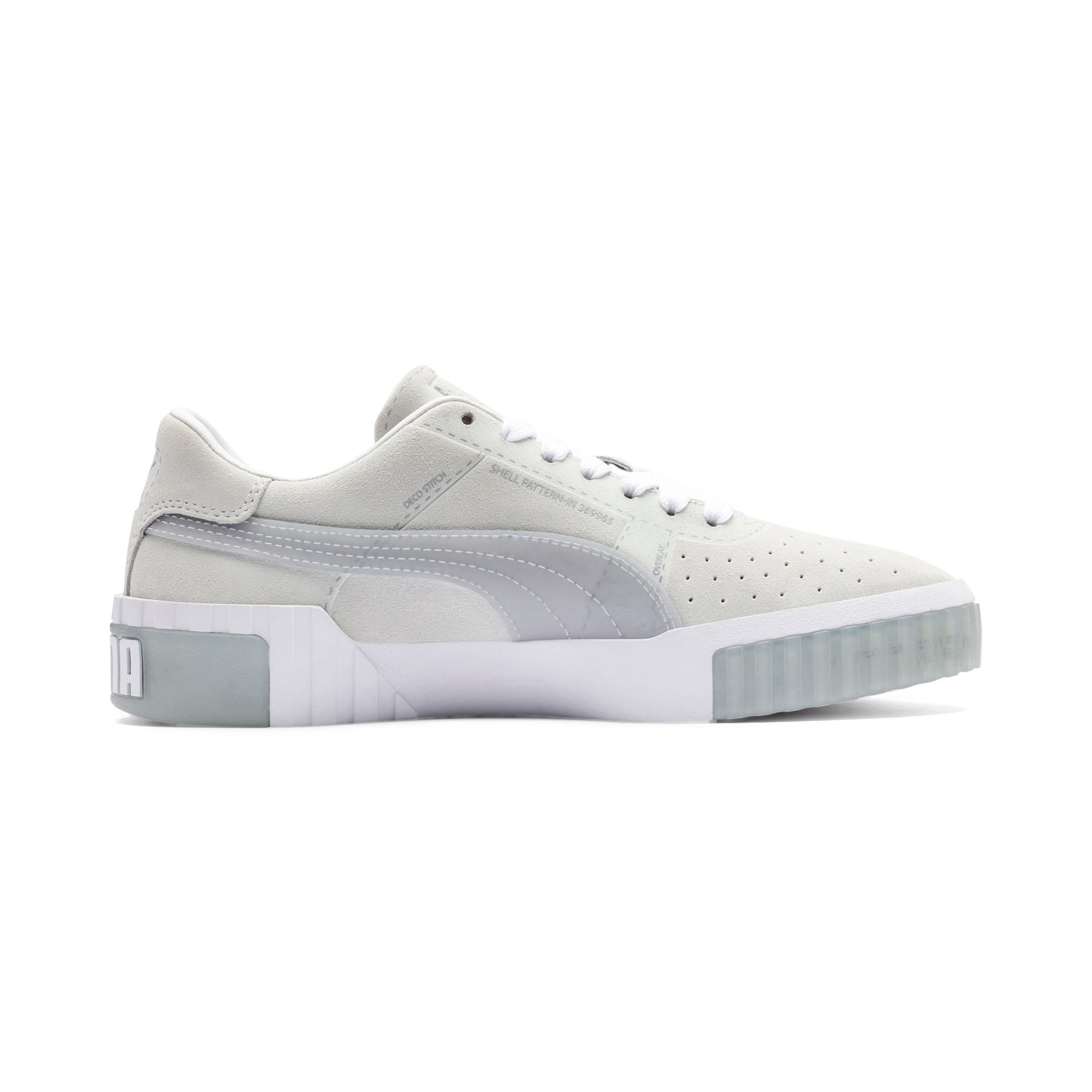 Thumbnail 6 of Cali Patternmaster Women's Trainers, Puma White-Quarry, medium