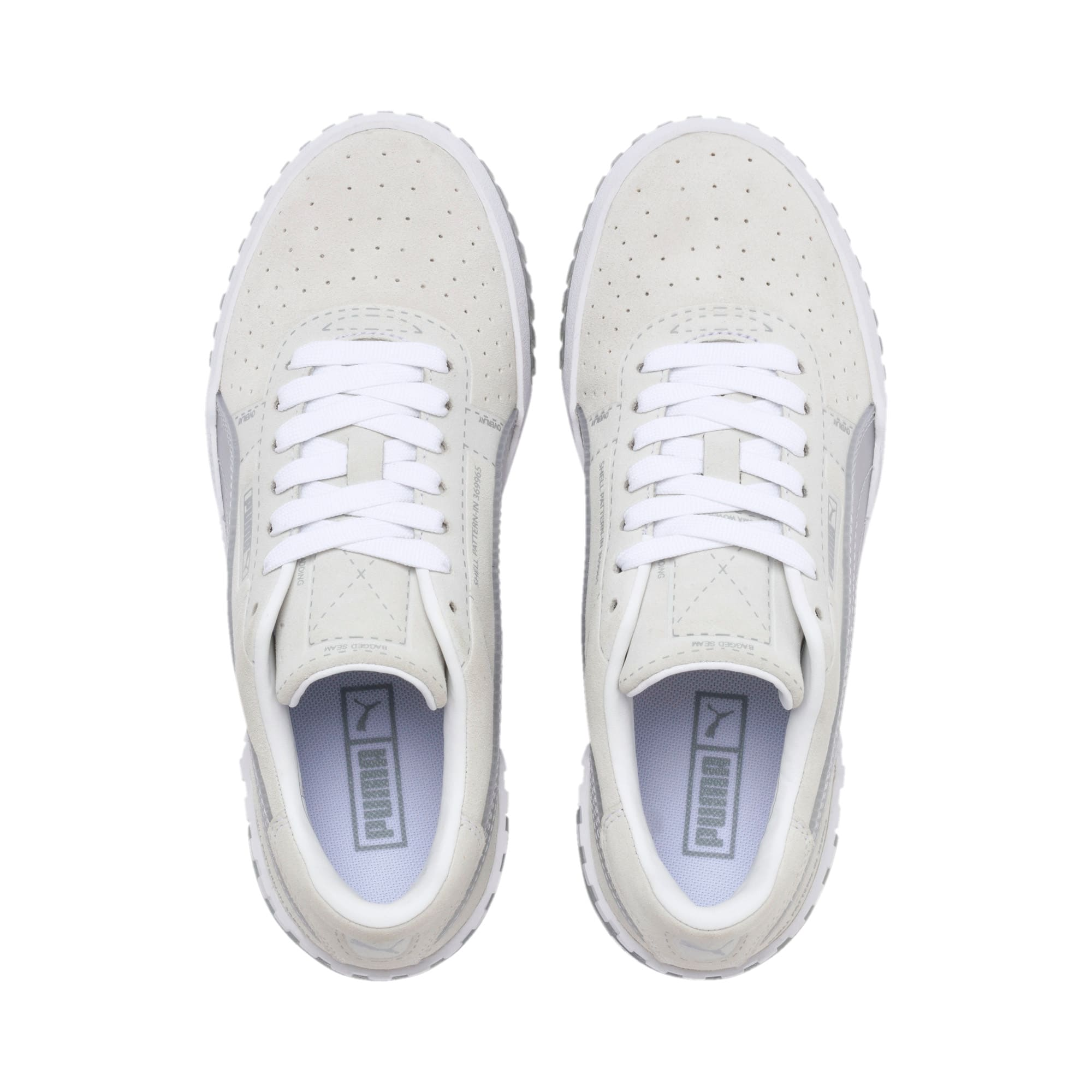 Thumbnail 7 of Cali Patternmaster Women's Trainers, Puma White-Quarry, medium