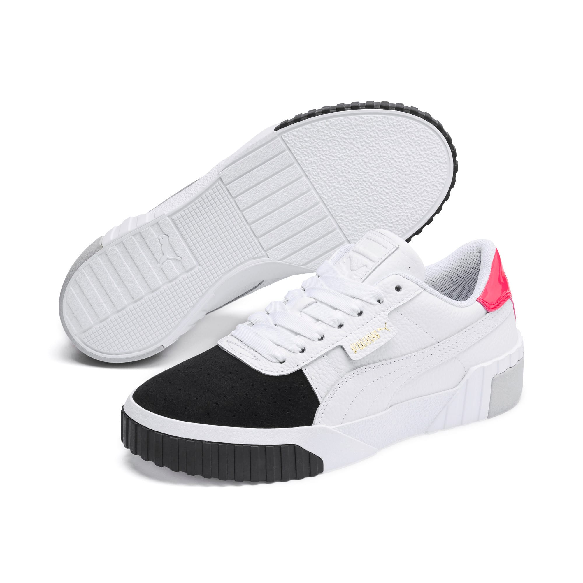 Thumbnail 3 of Cali Remix Women's Trainers, Puma White-Puma Black, medium