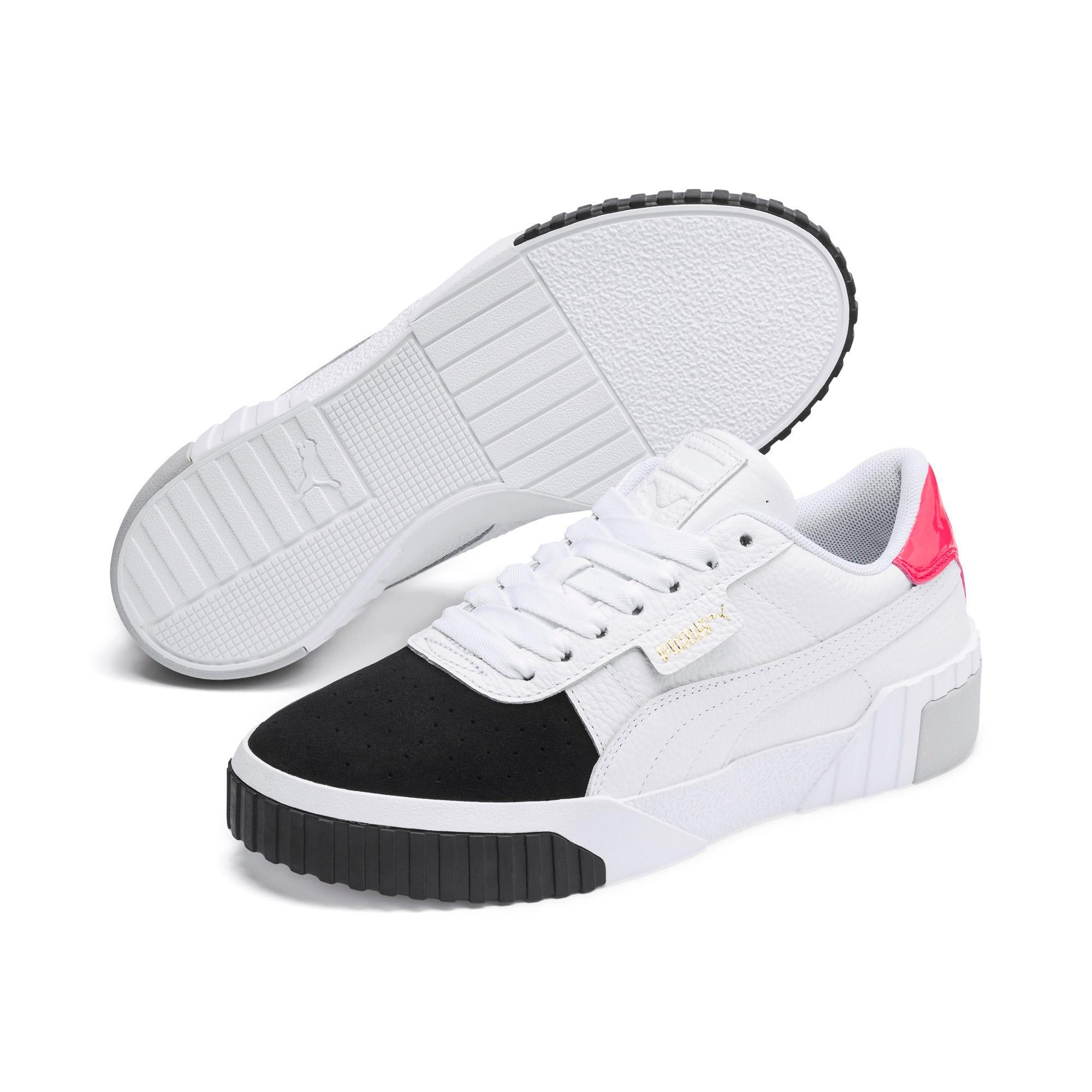 Thumbnail 3 of Cali Remix Women's Sneakers, Puma White-Puma Black, medium