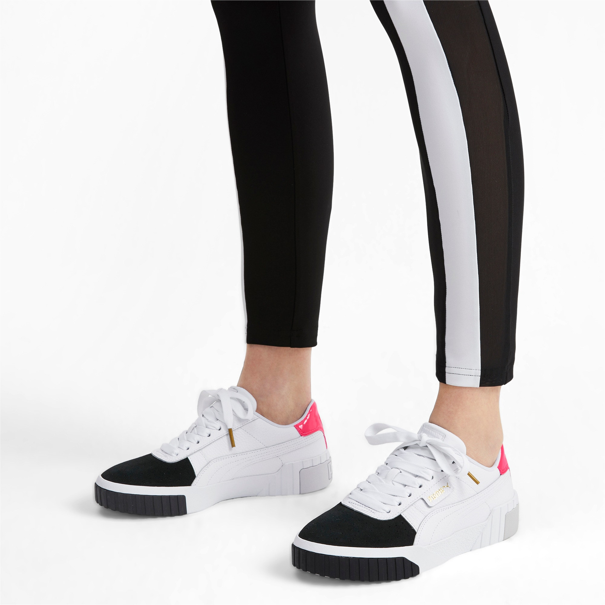 Thumbnail 2 of Cali Remix Women's Trainers, Puma White-Puma Black, medium
