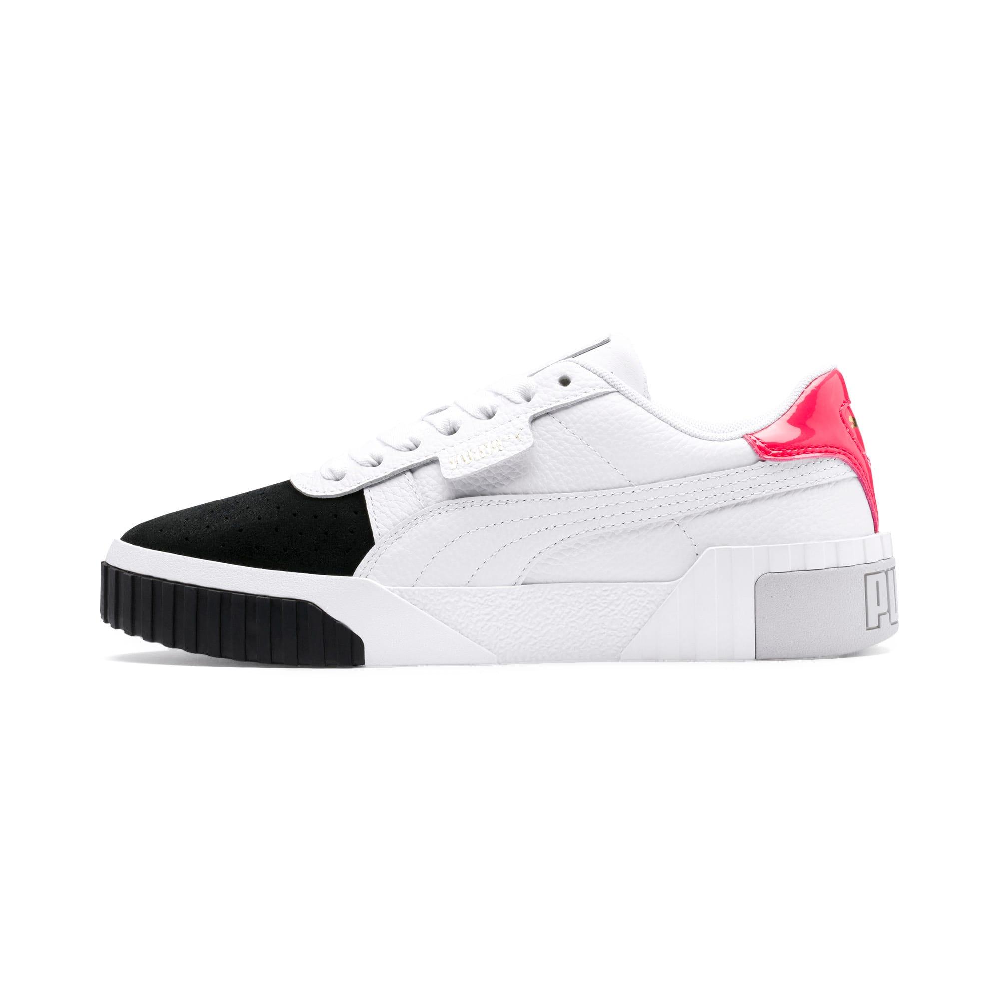 Thumbnail 1 of Cali Remix Women's Sneakers, Puma White-Puma Black, medium