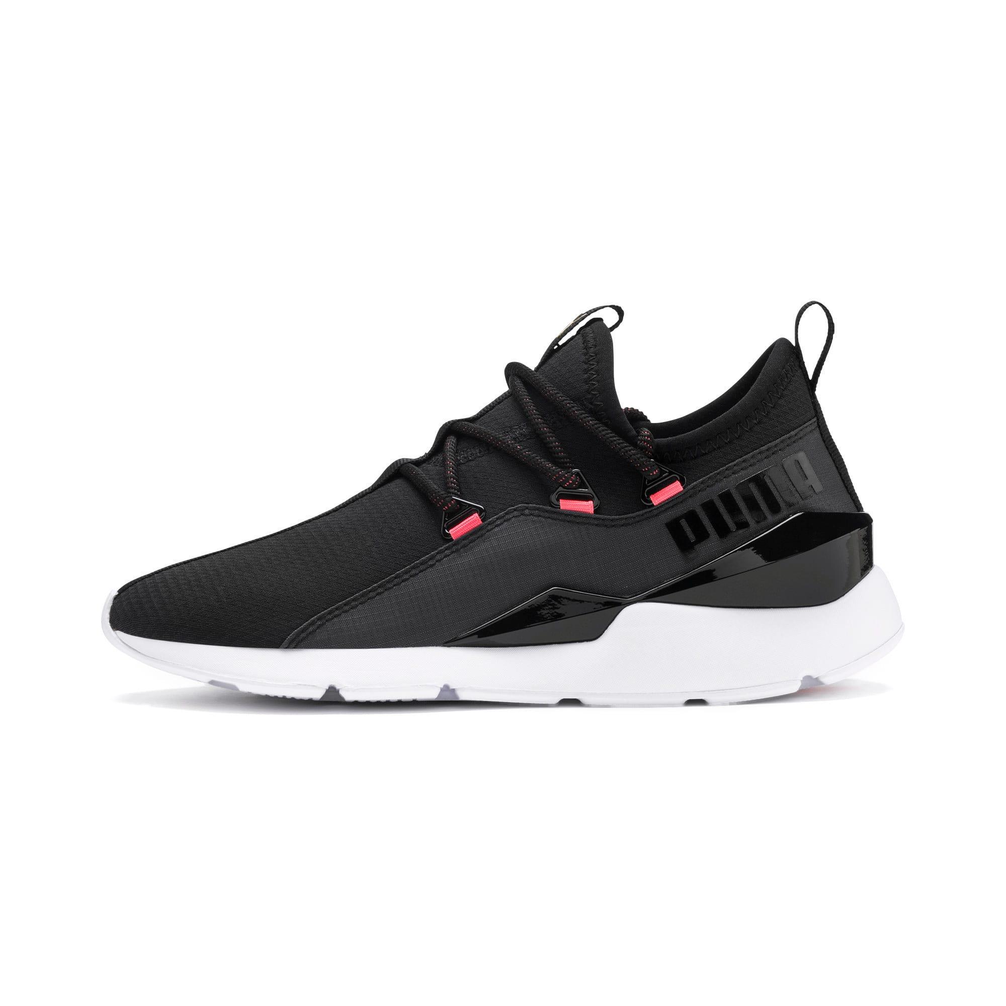 Thumbnail 1 of Muse 2 Hypertech Women's Sneakers, Puma Black-Sulphur, medium