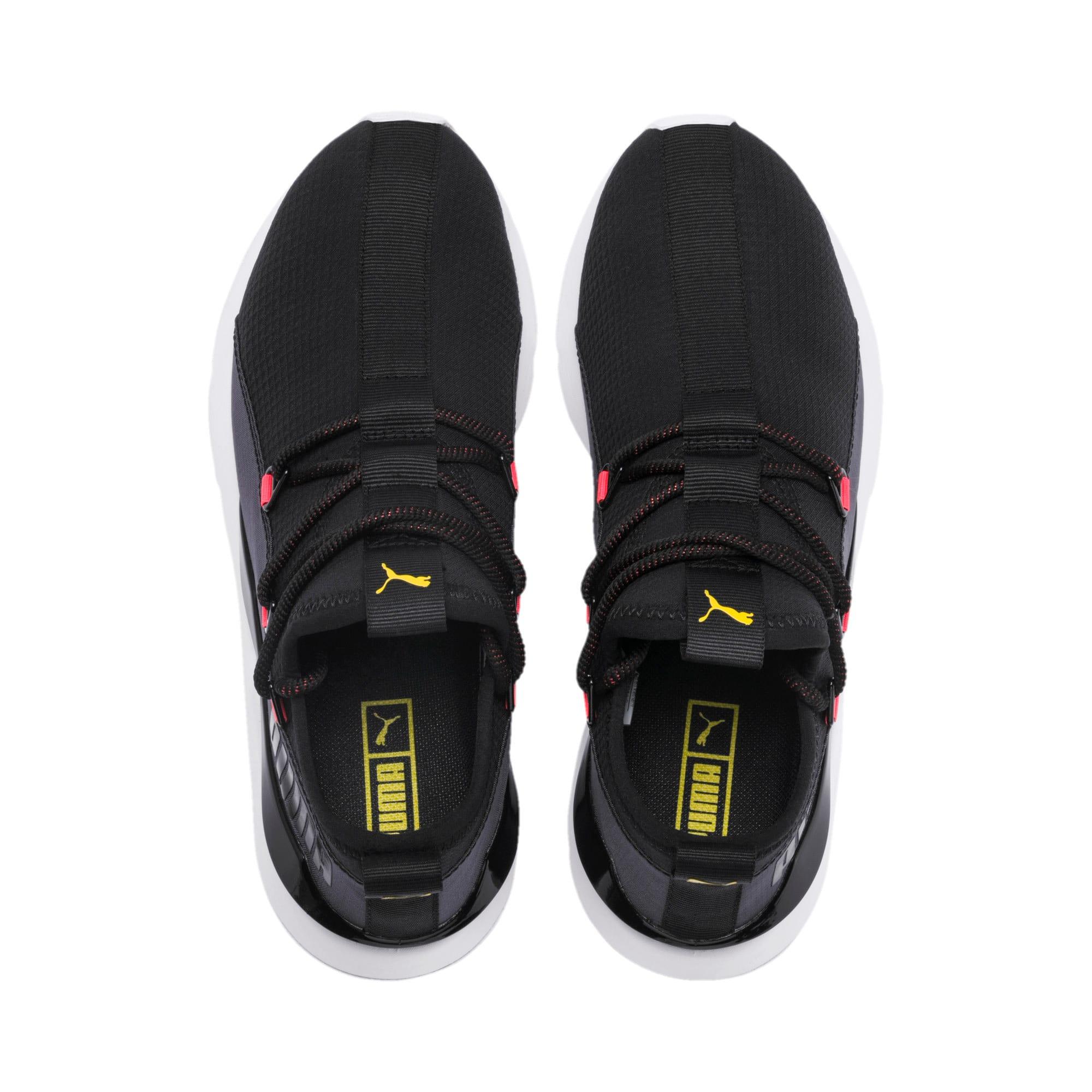 Thumbnail 7 of Muse 2 Hypertech Women's Sneakers, Puma Black-Sulphur, medium
