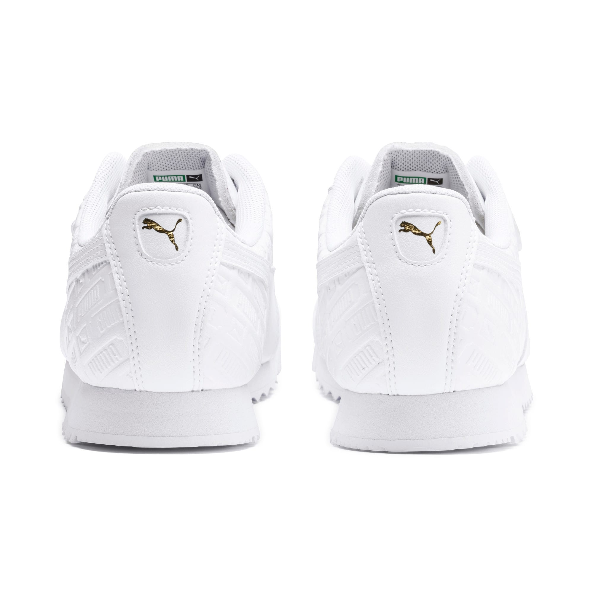 Thumbnail 4 of Basket Roma Reinvent pour femme, Puma White-Puma Team Gold, medium