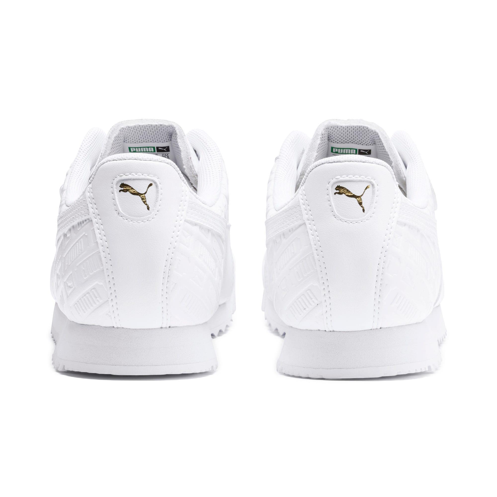 Thumbnail 4 of Roma Reinvent Women's Sneakers, Puma White-Puma Team Gold, medium